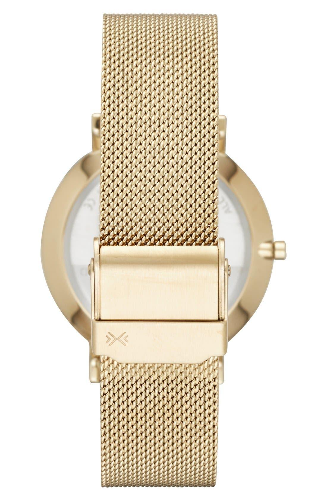 SKAGEN, 'Hald' Round Mesh Strap Watch, 34mm, Alternate thumbnail 2, color, 710