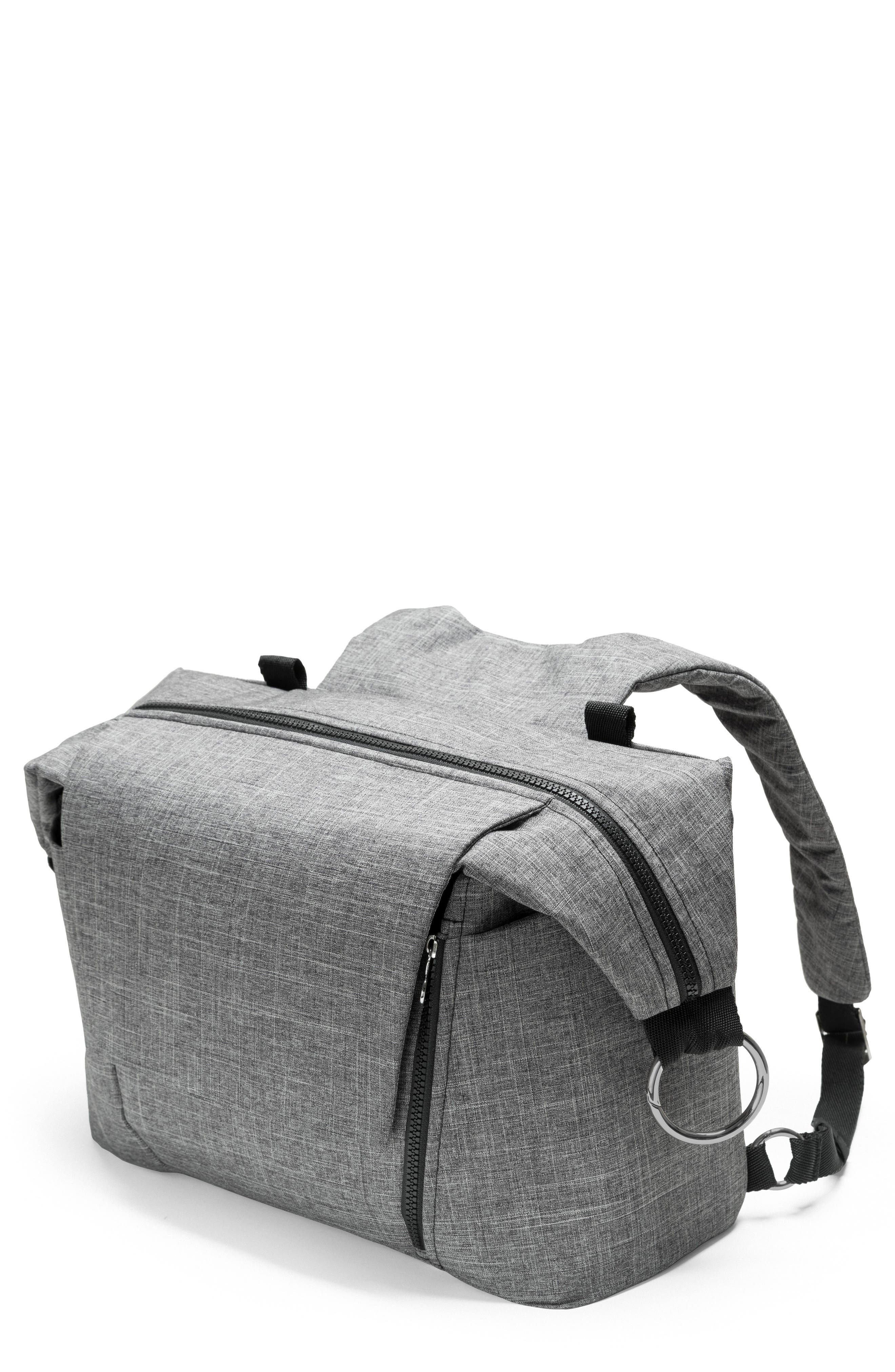 STOKKE, Changing Diaper Bag, Alternate thumbnail 2, color, BLACK MELANGE