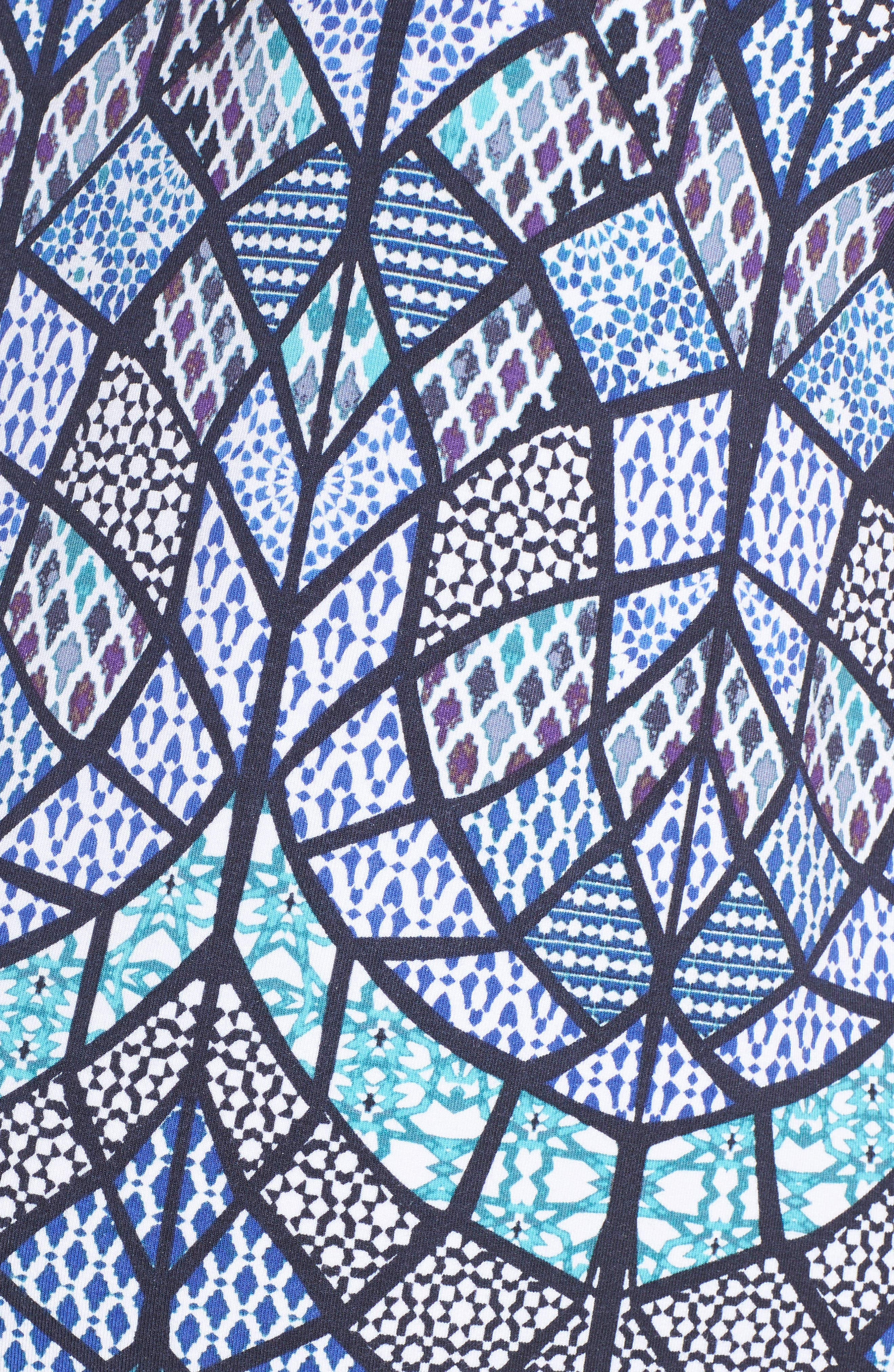 TART MATERNITY, Caia Cold Shoulder Maternity Dress, Alternate thumbnail 5, color, TILE MOSAIC