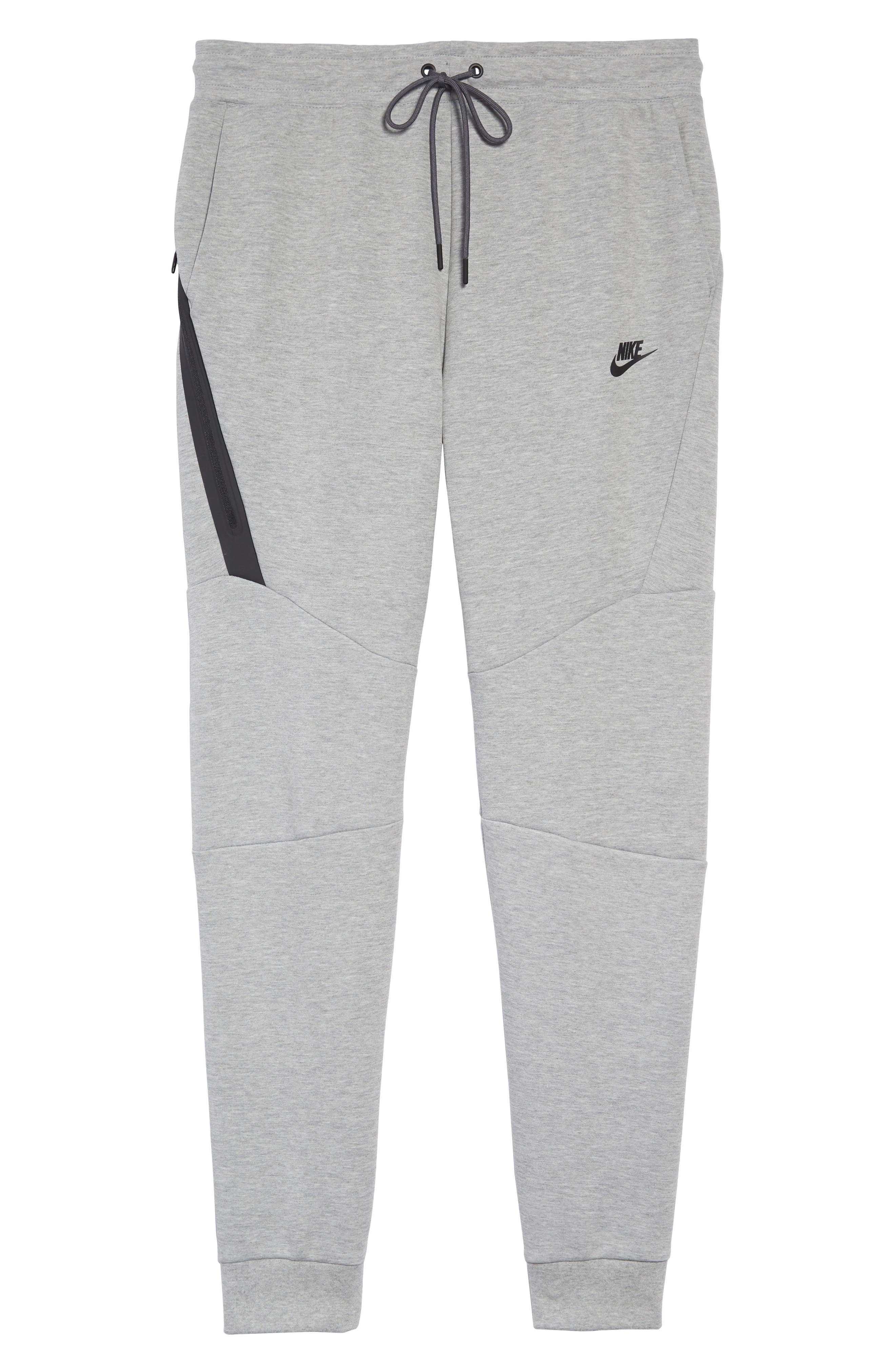 NIKE, Tech Fleece Jogger Pants, Alternate thumbnail 7, color, DARK GREY HEATHER/ BLACK