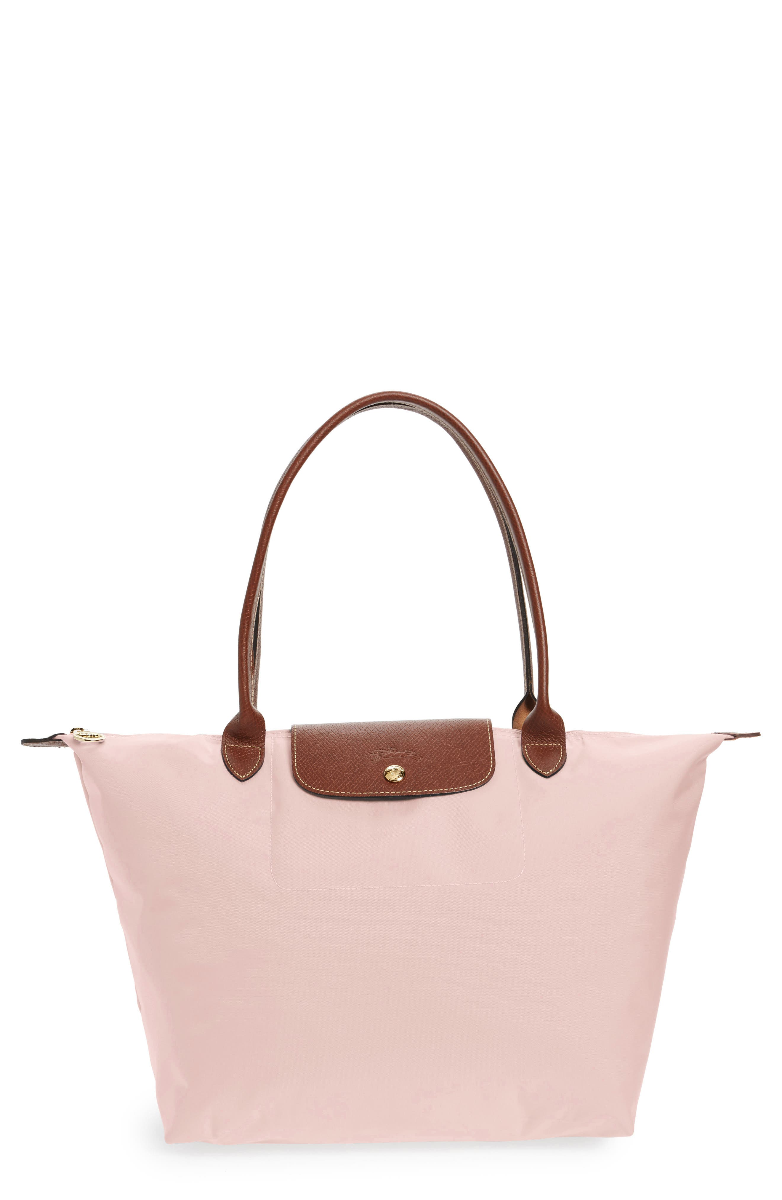 LONGCHAMP, Large Le Pliage Tote, Main thumbnail 1, color, PINK ICE