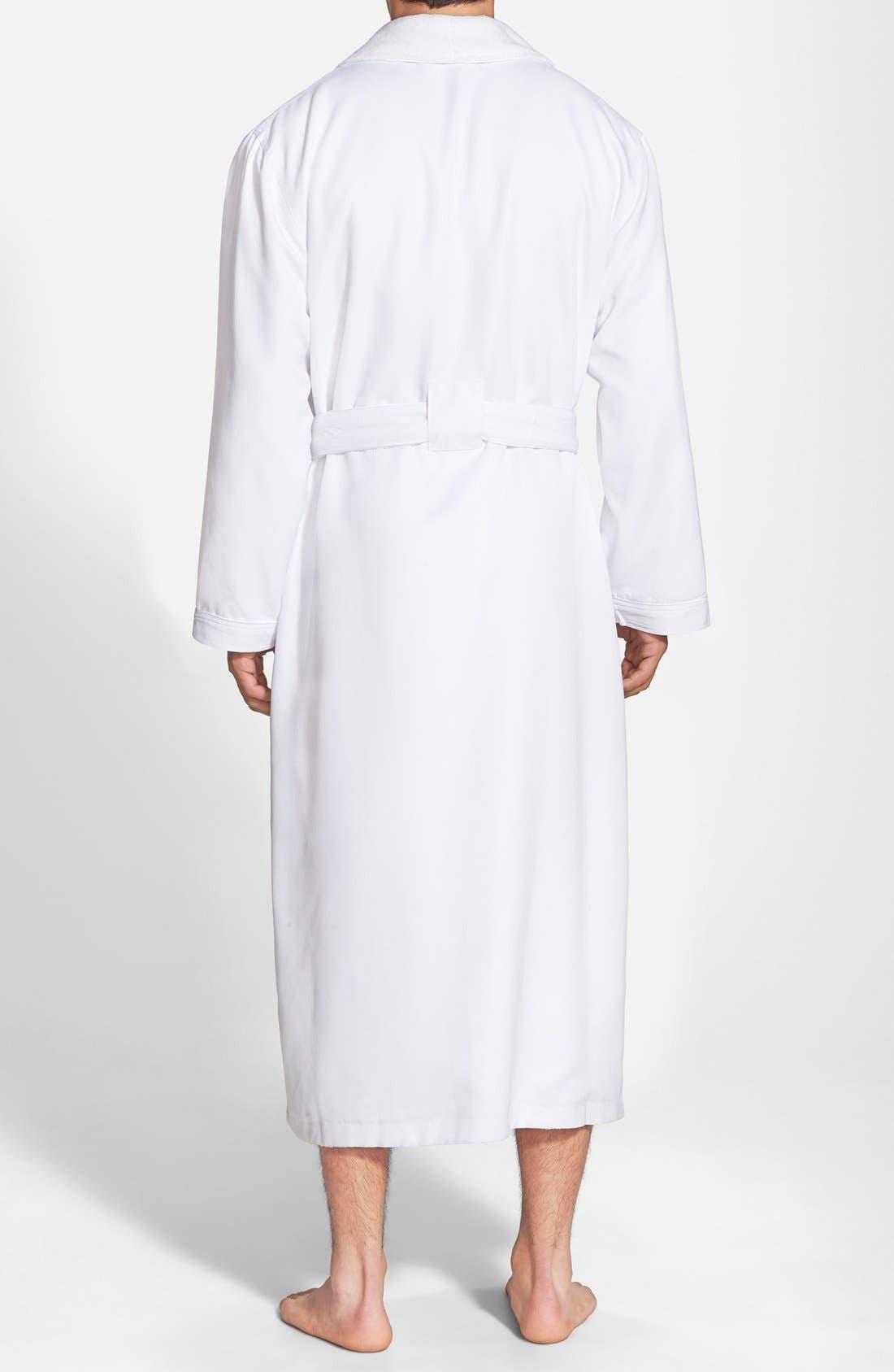 MAJESTIC INTERNATIONAL, Fleece Lined Robe, Alternate thumbnail 2, color, WHITE