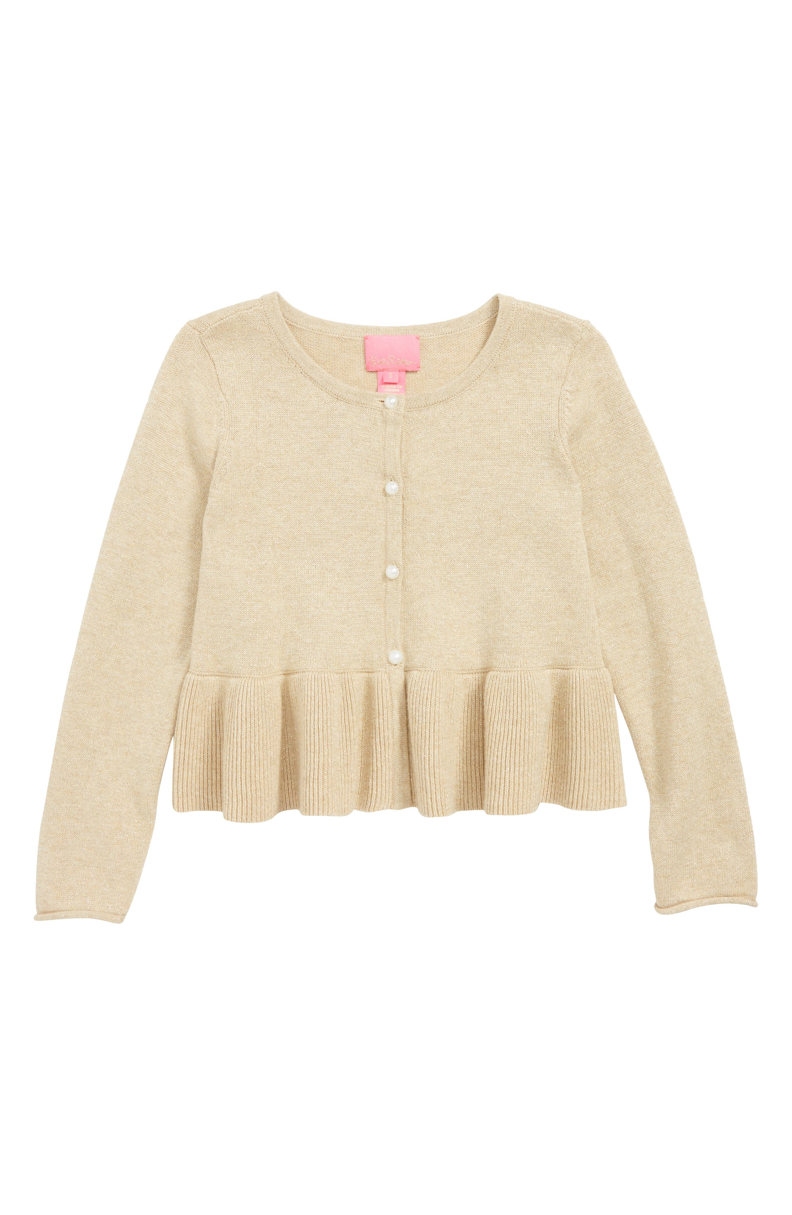 Girls Lilly Pulitzer Adelaide Cardigan Size L (810)  Metallic