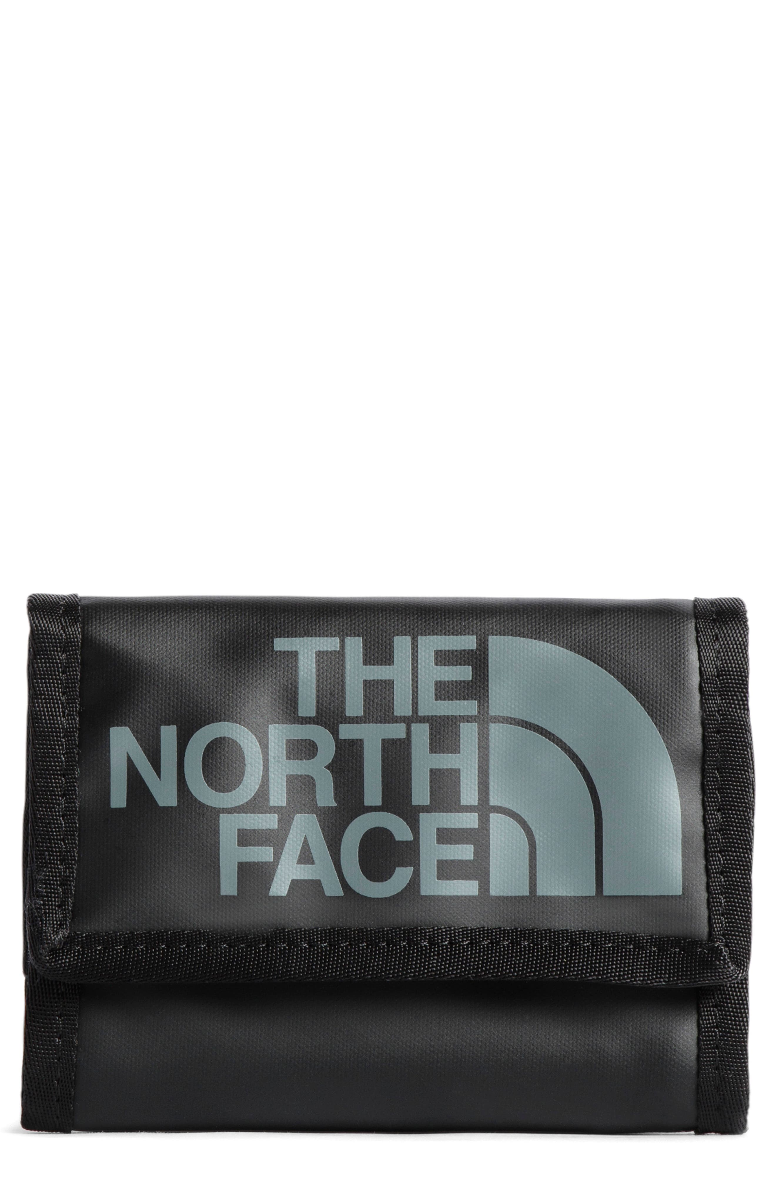 THE NORTH FACE, Base Camp Trifold Nylon Wallet, Main thumbnail 1, color, THE NORTH FACE BLACK