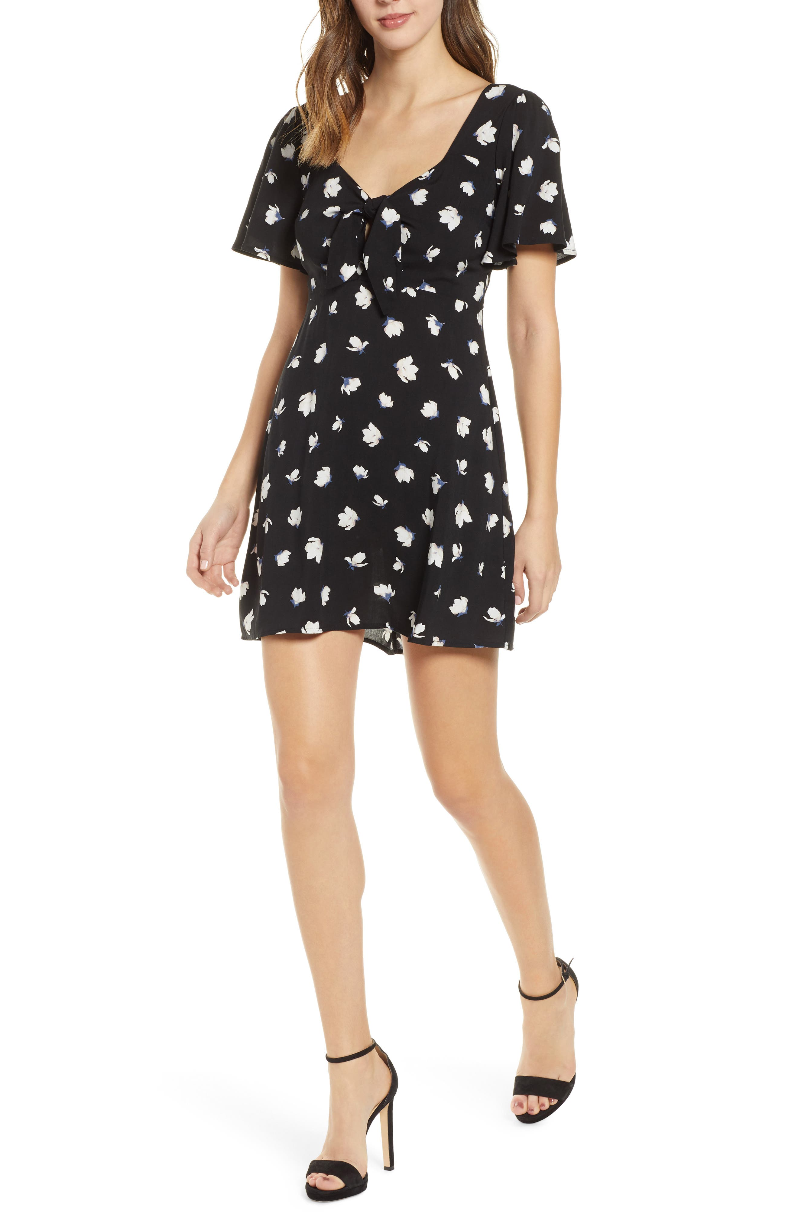 Tie Front Minidress by All In Favor