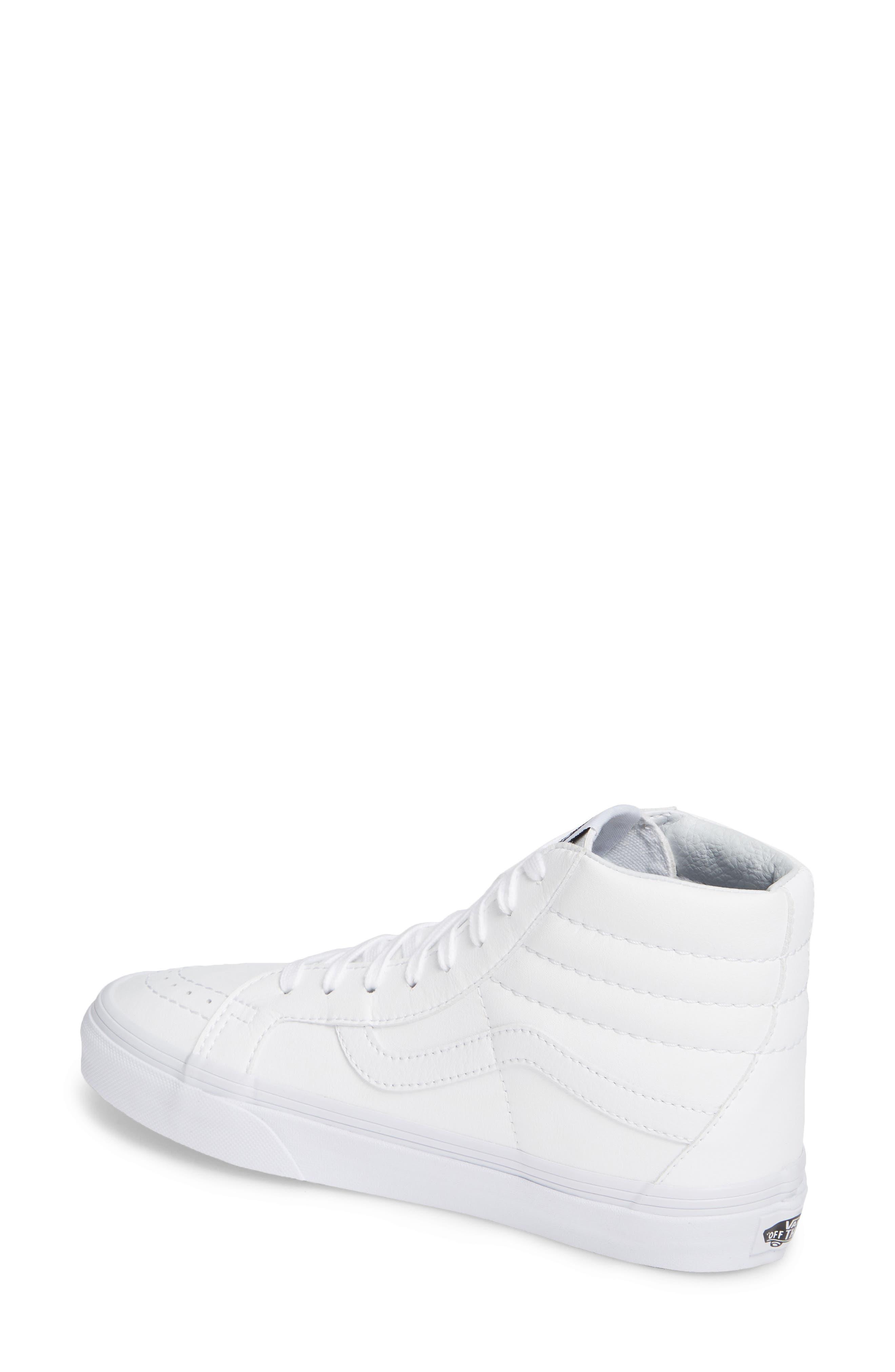 VANS, 'Sk8-Hi Reissue' Sneaker, Alternate thumbnail 2, color, TRUE WHITE