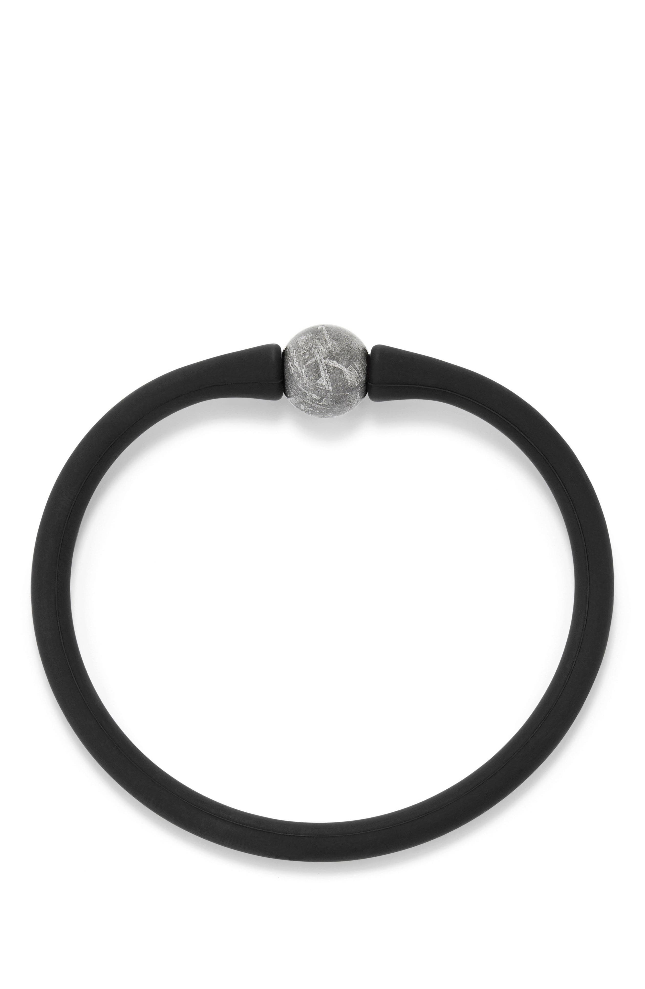 DAVID YURMAN, Spiritual Beads Stone Rubber Bead Bracelet, Alternate thumbnail 2, color, METEORITE