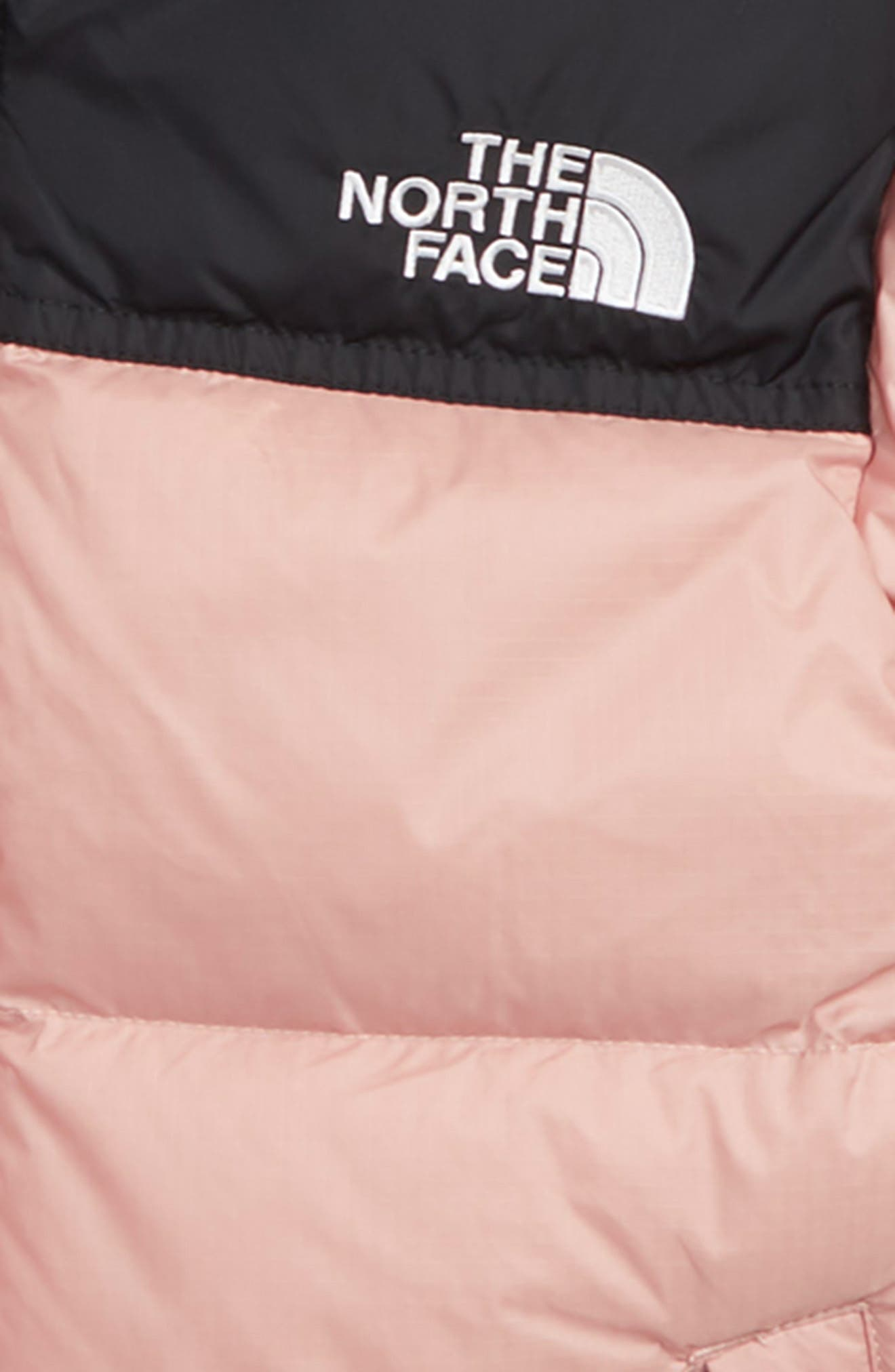 THE NORTH FACE, Nuptse 700 Fill Power Down Puffer Jacket, Alternate thumbnail 2, color, MISTY ROSE