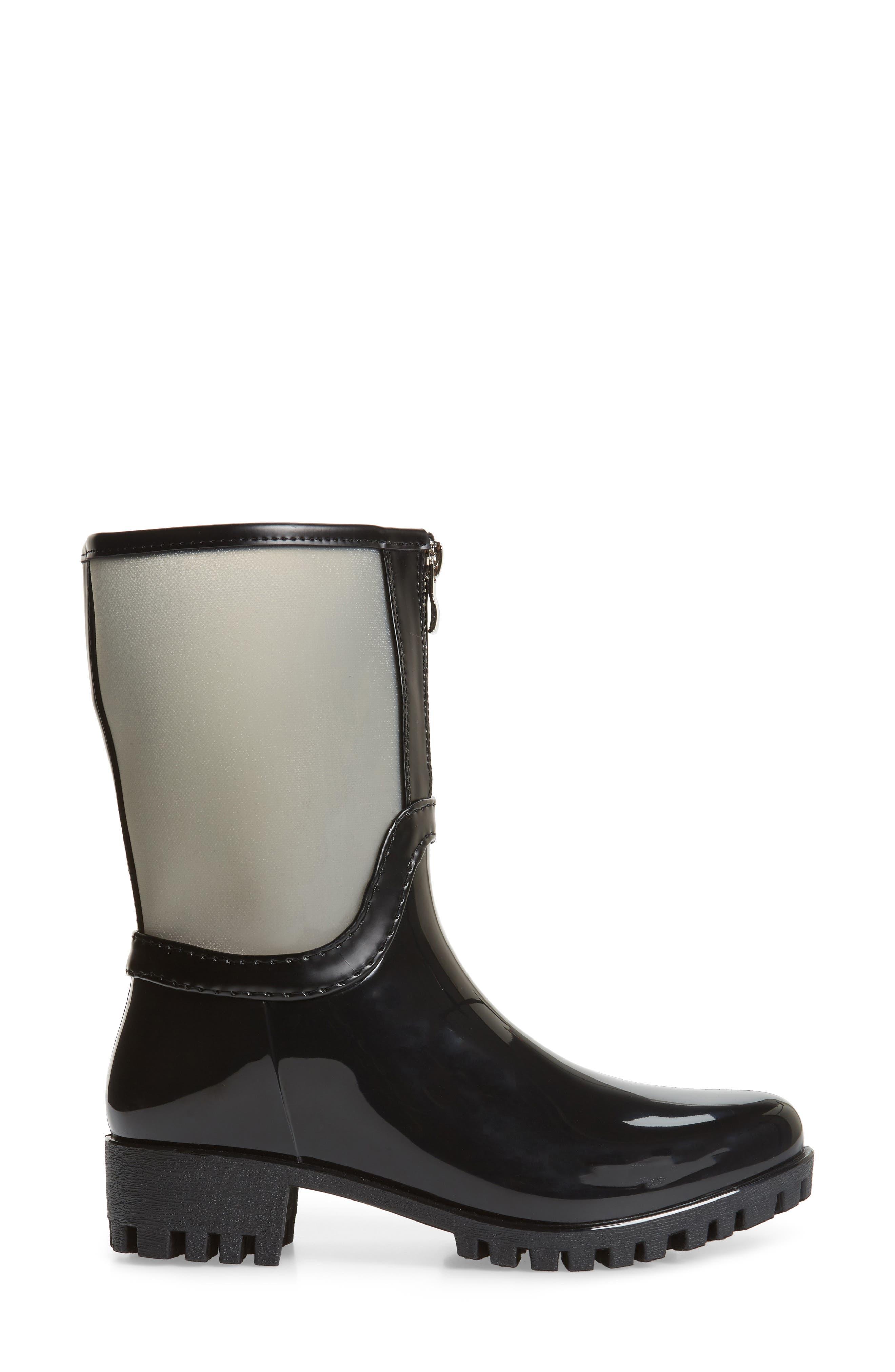 DÄV, Dryden Sheer Waterproof Boot, Alternate thumbnail 3, color, GREY FABRIC