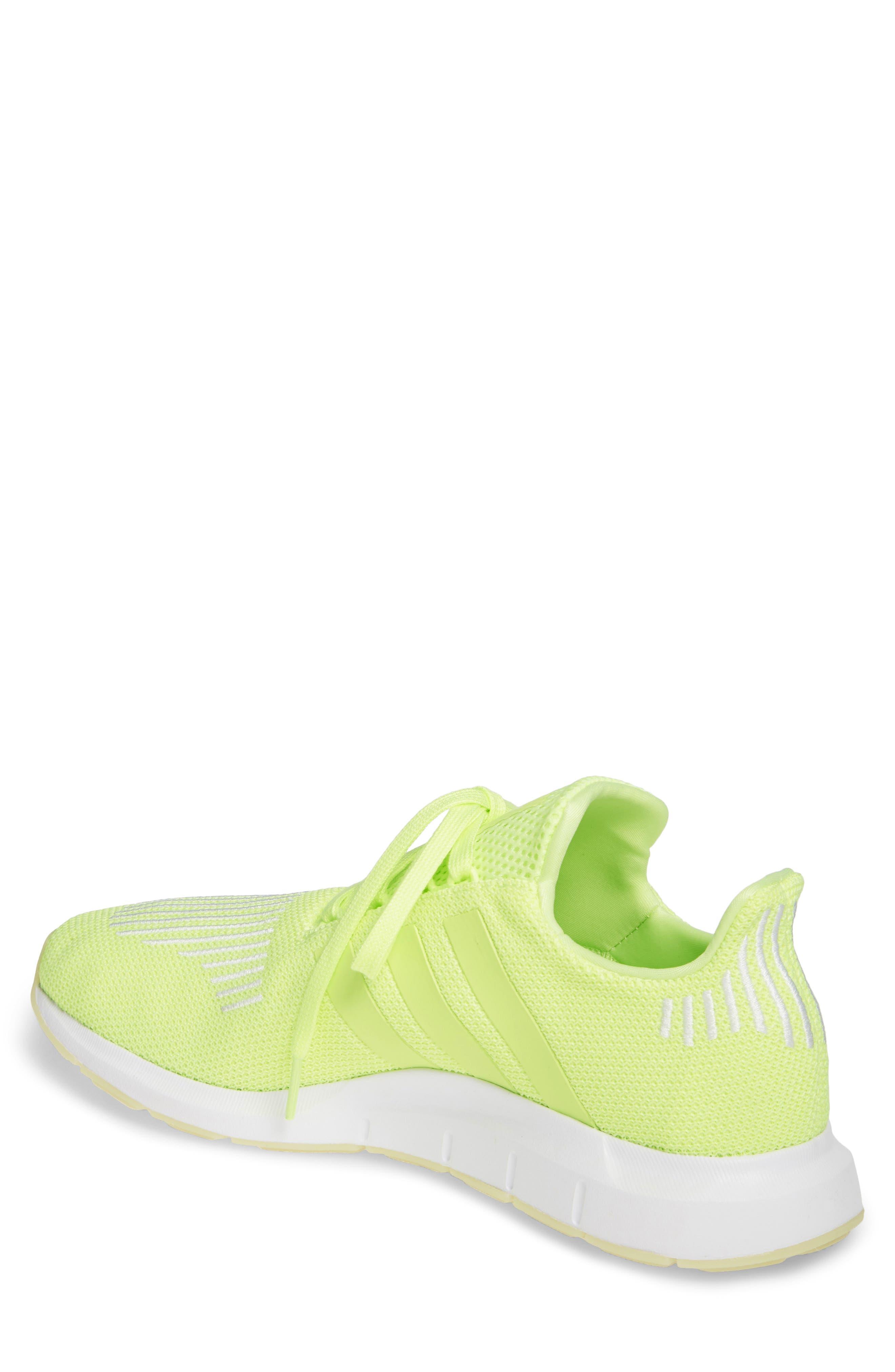 ADIDAS, Swift Run Running Shoe, Alternate thumbnail 2, color, YELLOW/ WHITE
