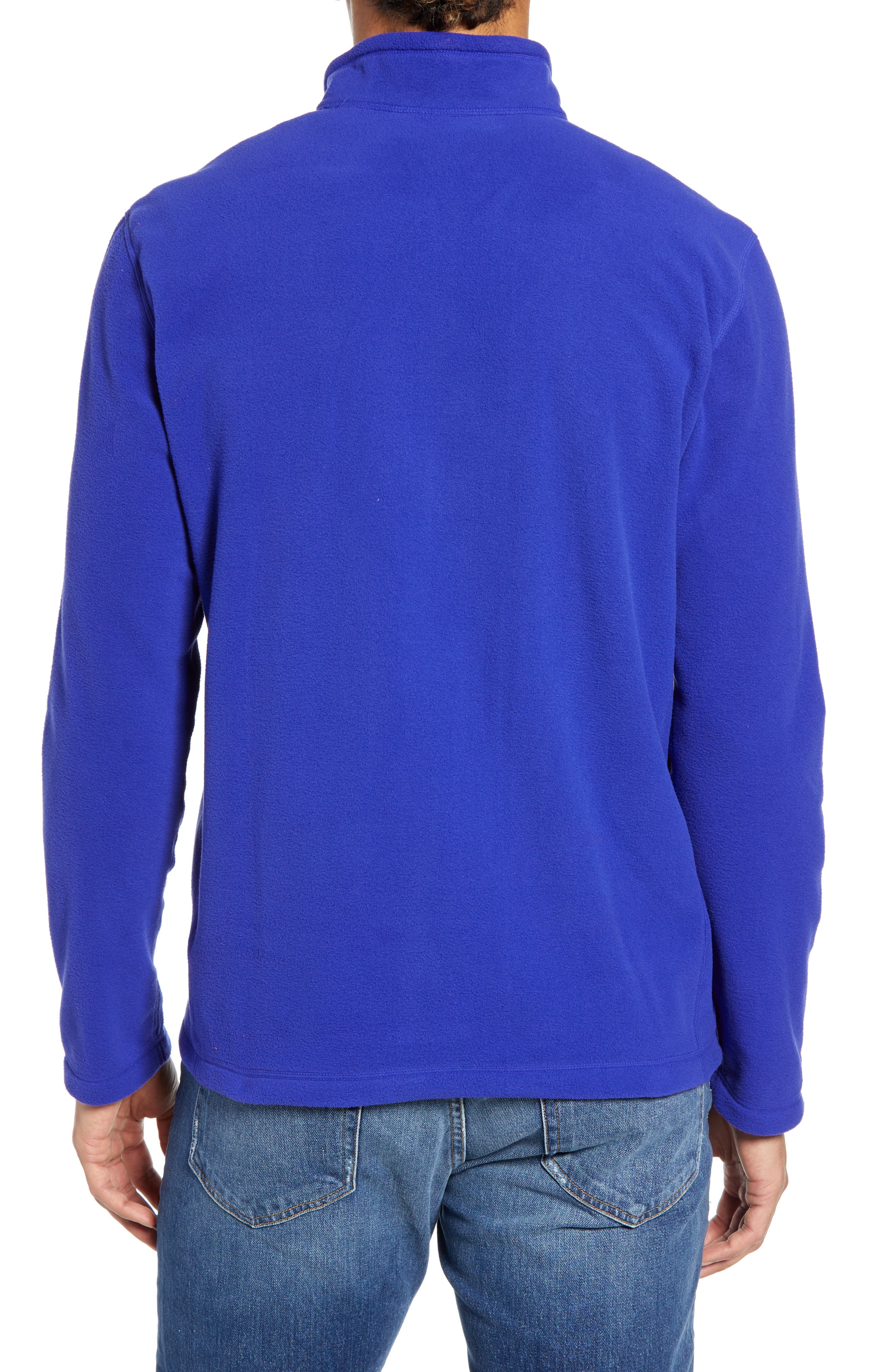 THE NORTH FACE, 'TKA 100 Glacier' Quarter Zip Fleece Pullover, Alternate thumbnail 2, color, AZTEC BLUE