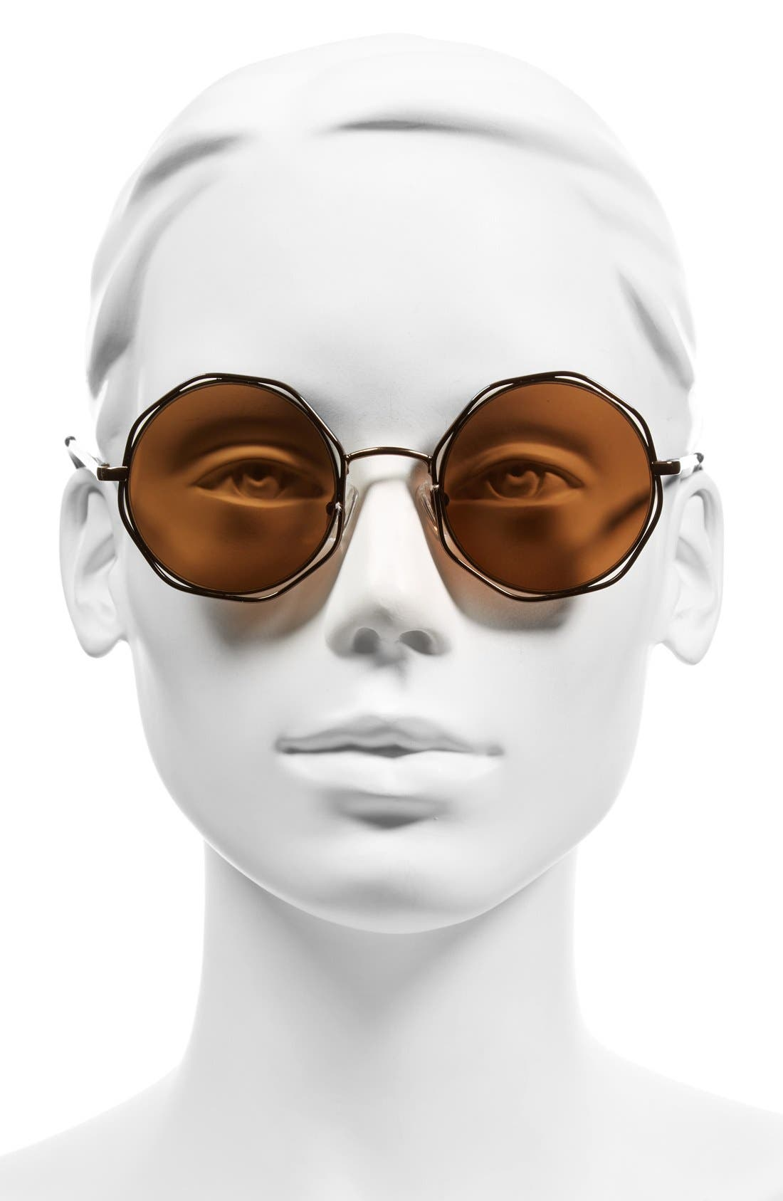 A.J. MORGAN, 'Clayton' 48mm Octagon Wire Sunglasses, Alternate thumbnail 2, color, 220