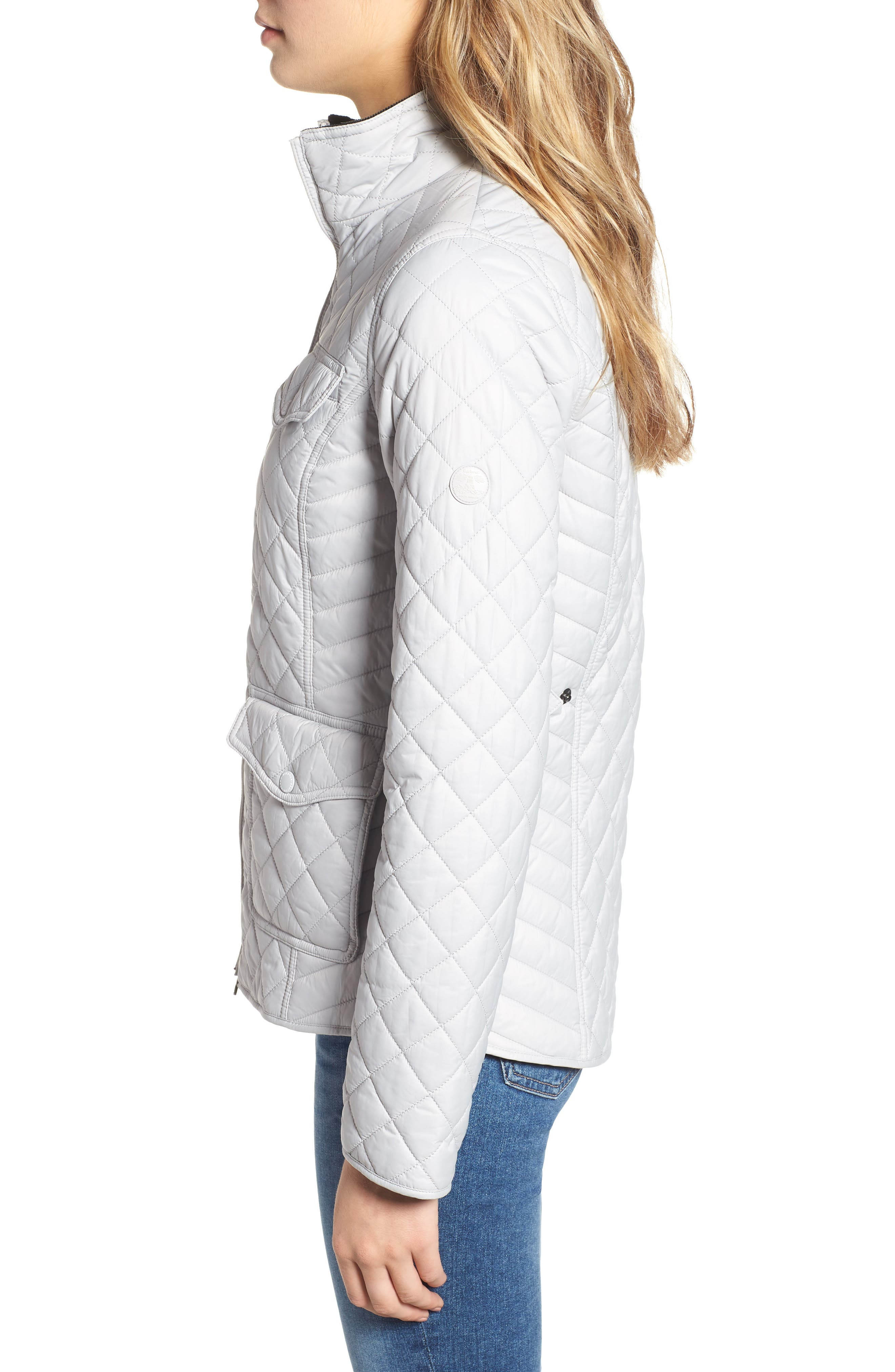 BARBOUR, Sailboat Quilted Jacket, Alternate thumbnail 4, color, 100