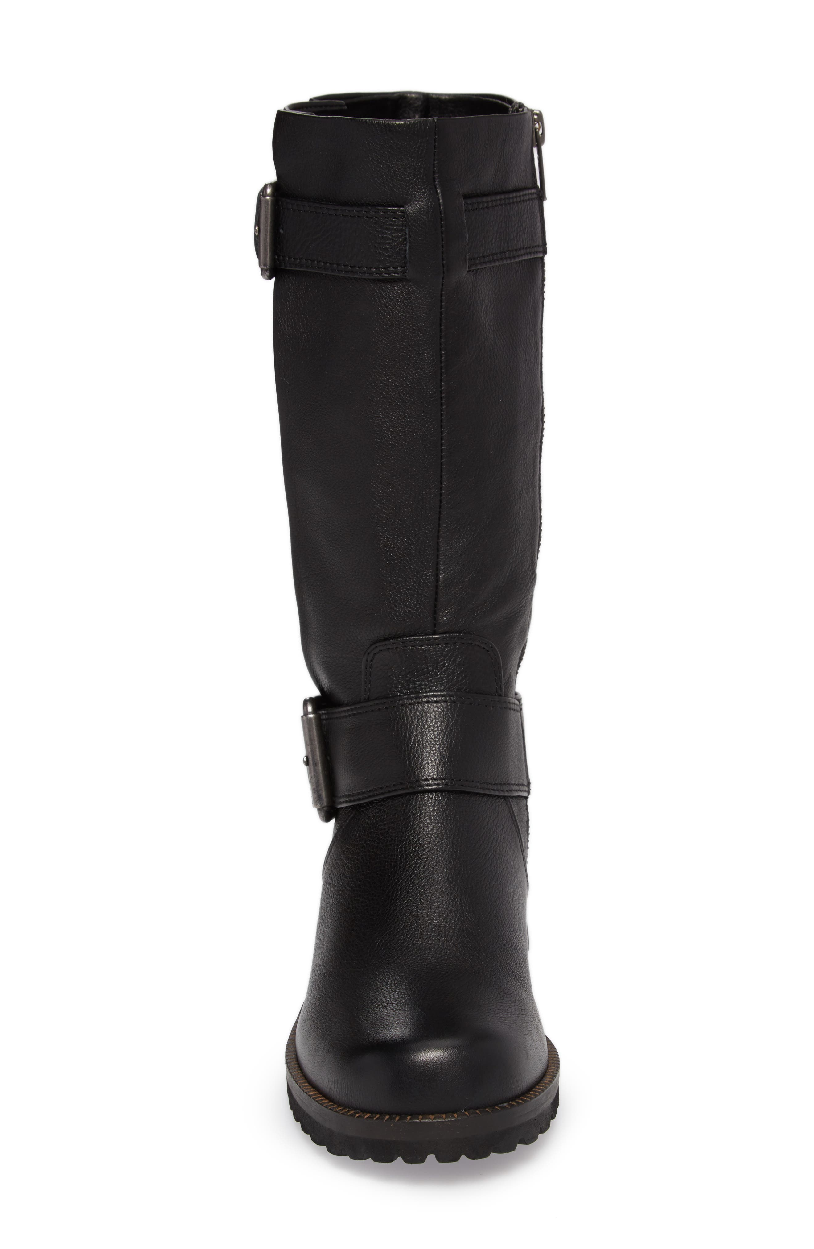 GENTLE SOULS BY KENNETH COLE, 'Buckled Up' Boot, Alternate thumbnail 4, color, BLACK