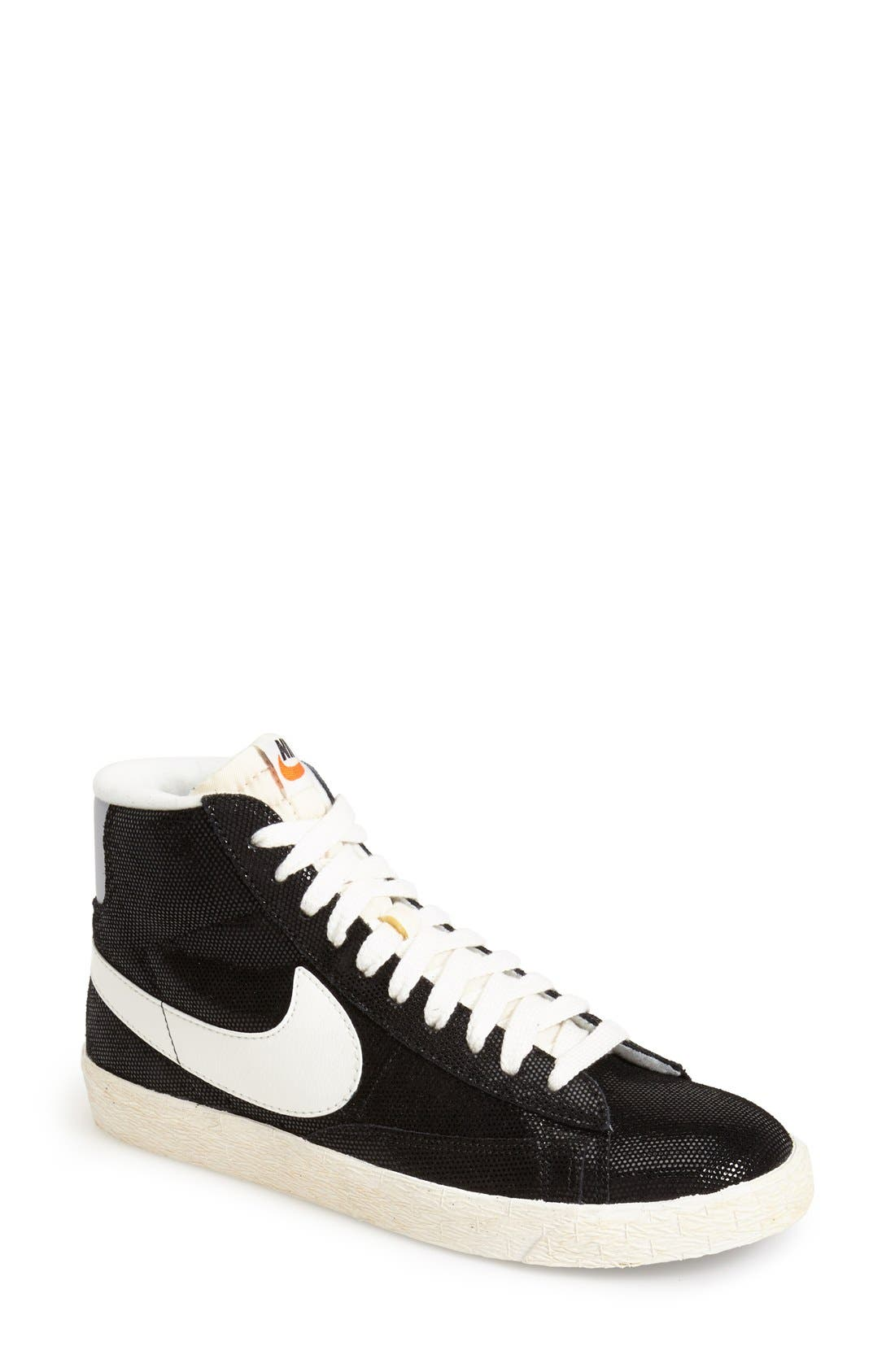 NIKE, 'Blazer' Vintage High Top Basketball Sneaker, Main thumbnail 1, color, 009