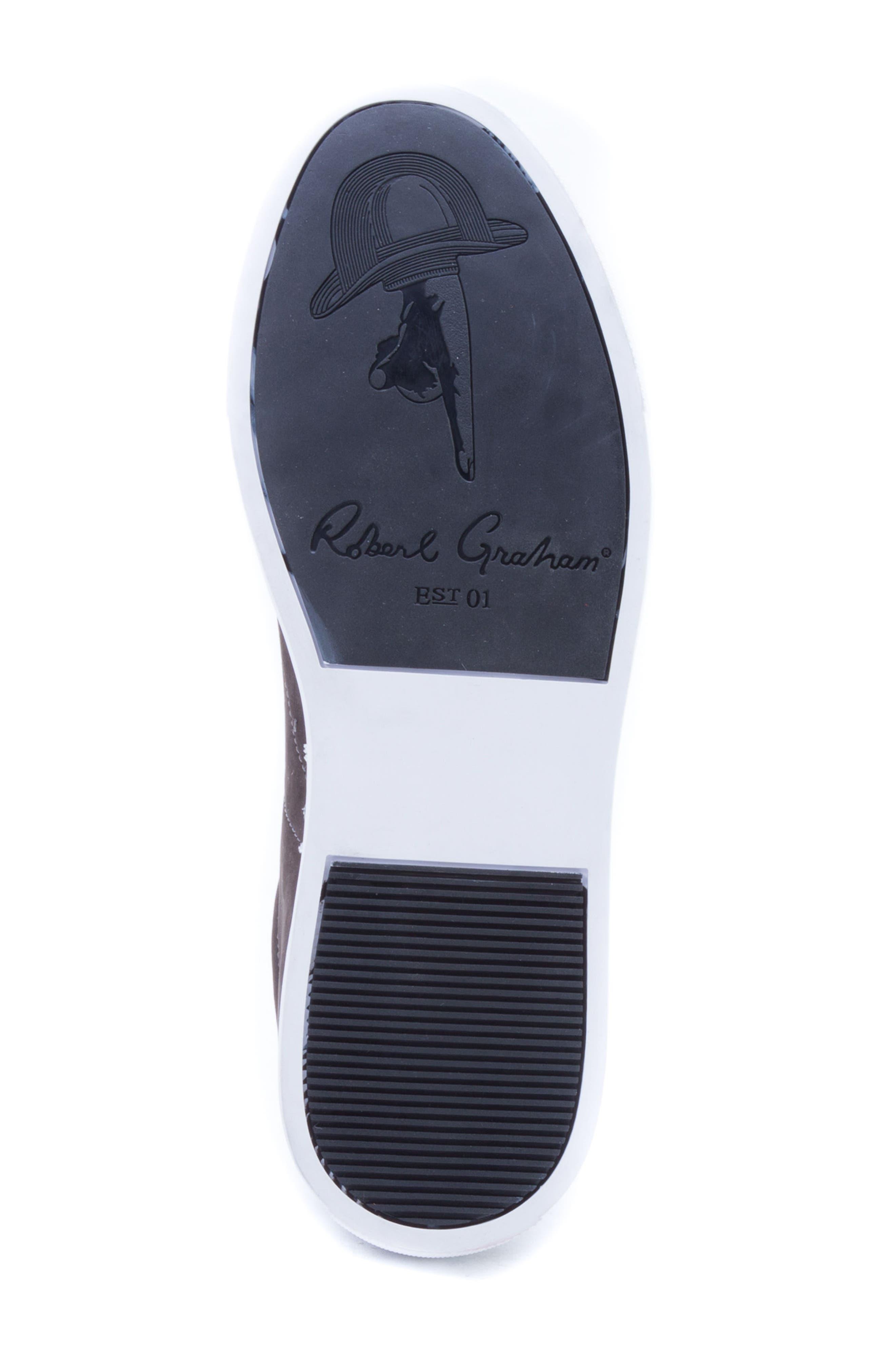 ROBERT GRAHAM, Gonzalo Low Top Sneaker, Alternate thumbnail 6, color, GREY SUEDE
