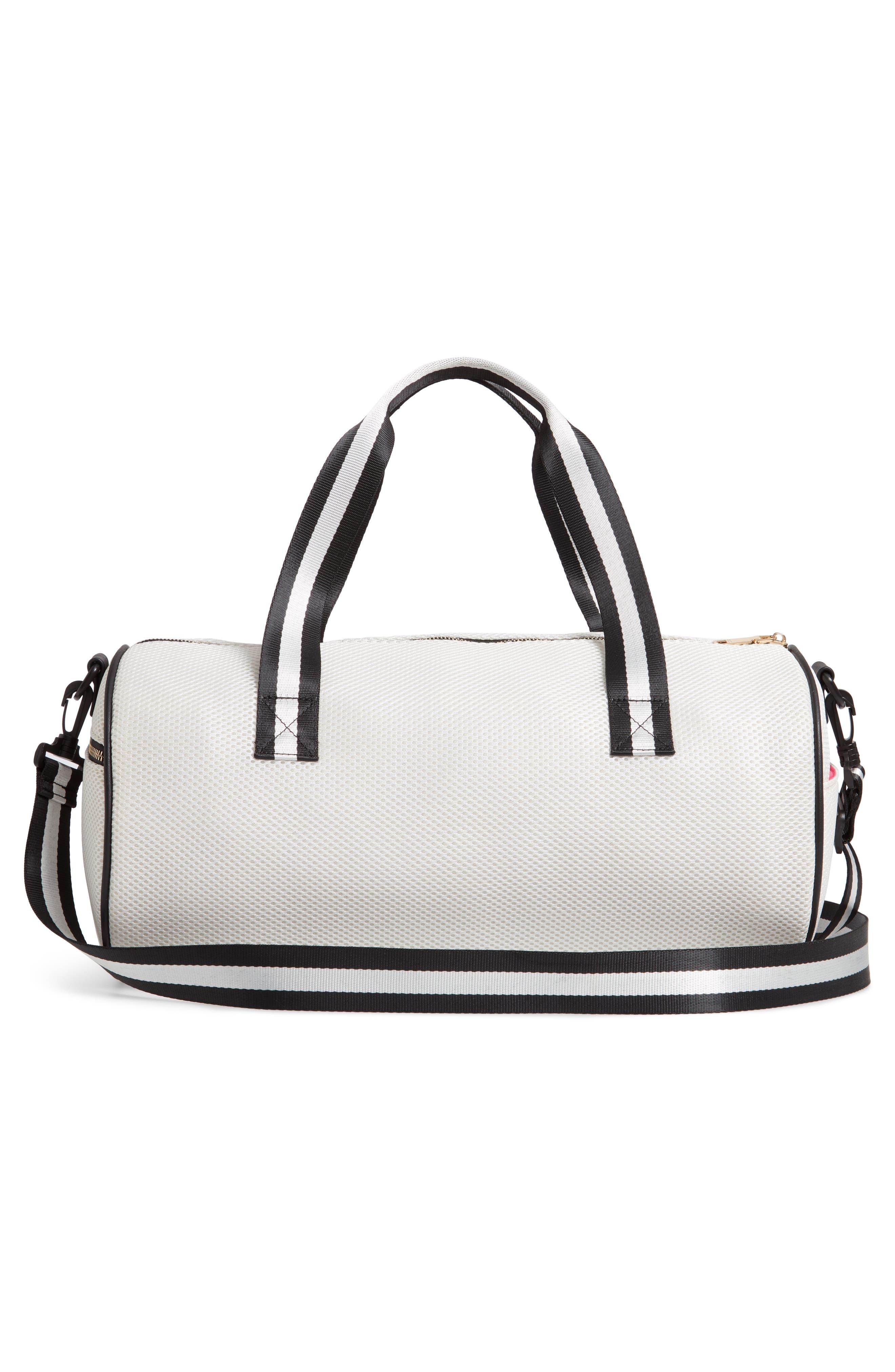 YOKI BAGS, Mesh Duffle Bag, Alternate thumbnail 4, color, WHITE MULTI