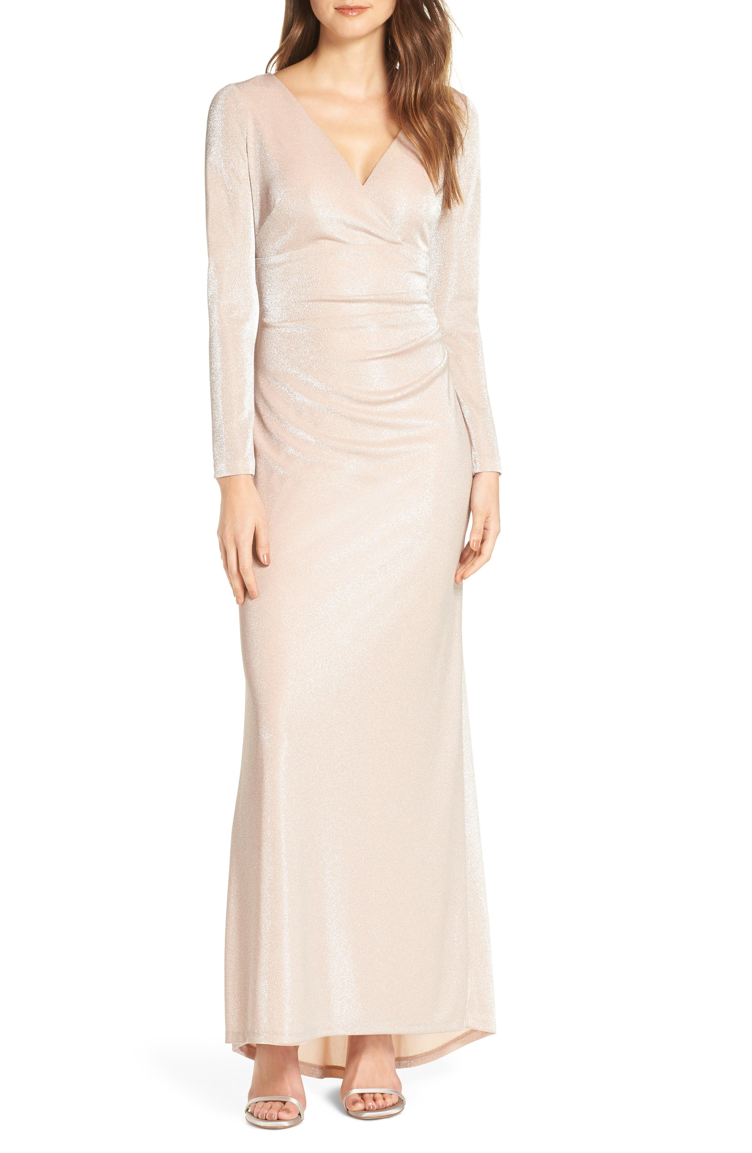 Vince Camuto Wrap Evening Dress, Pink