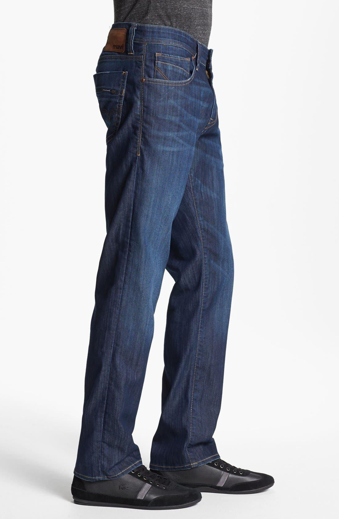 MAVI JEANS, Zach Straight Leg Jeans, Alternate thumbnail 8, color, DARK MAUI