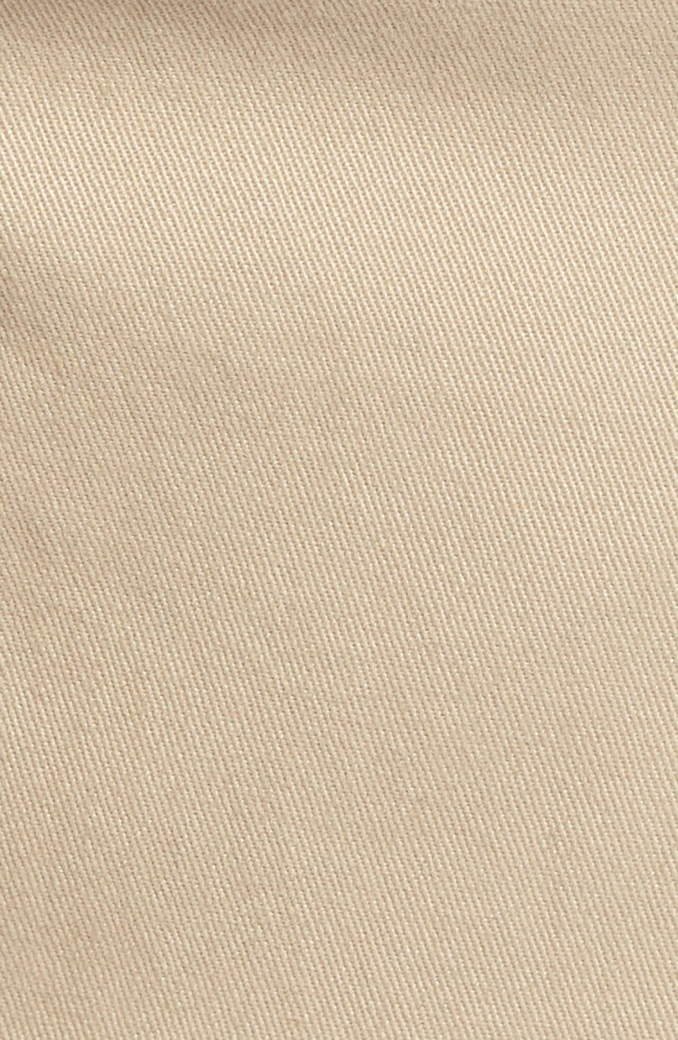 1901, Ballard Slim Fit Stretch Chino Pants, Alternate thumbnail 6, color, TAN BURROW