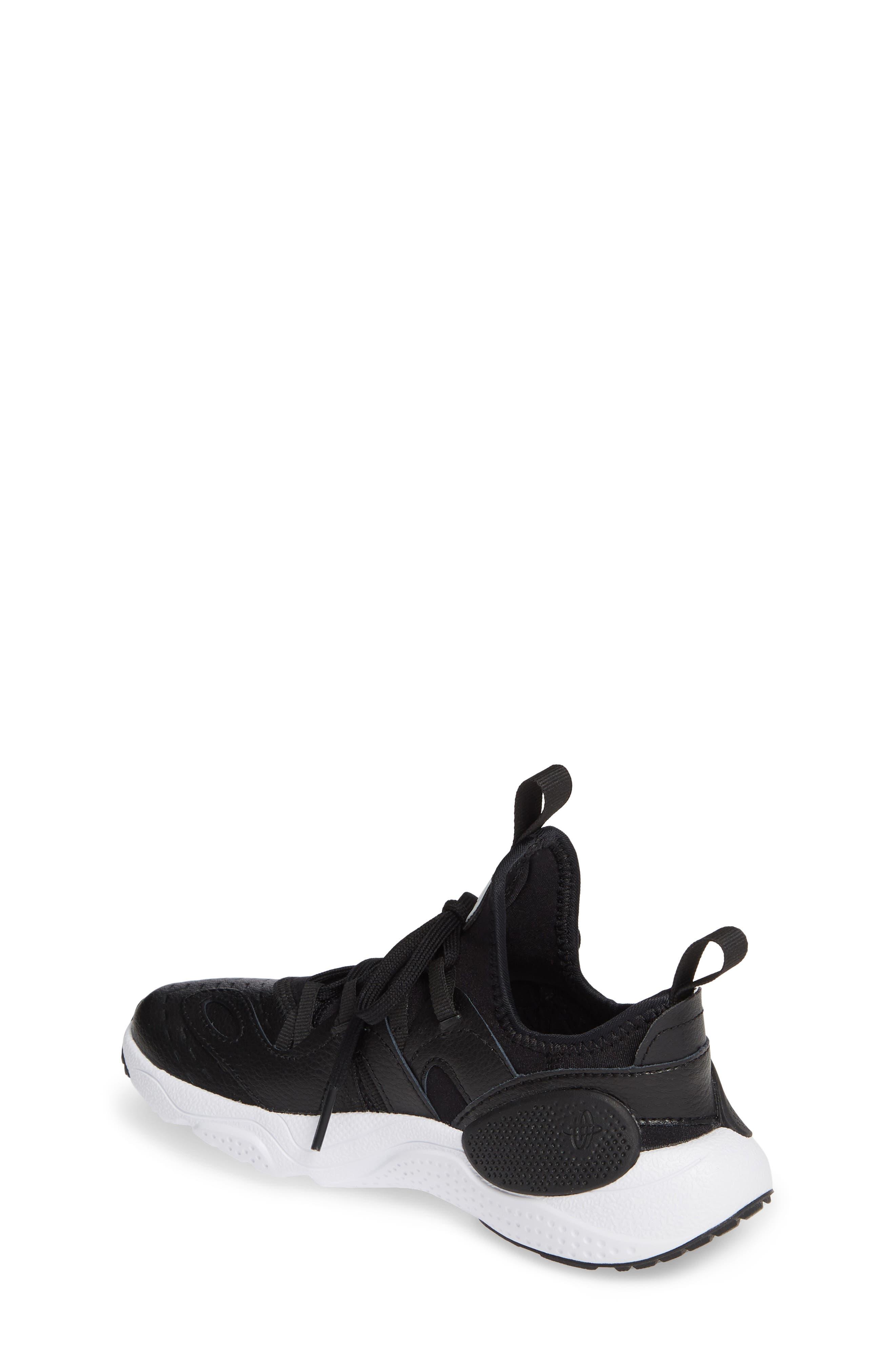 NIKE, Huarache E.D.G.E. Sneaker, Alternate thumbnail 2, color, BLACK/ WHITE