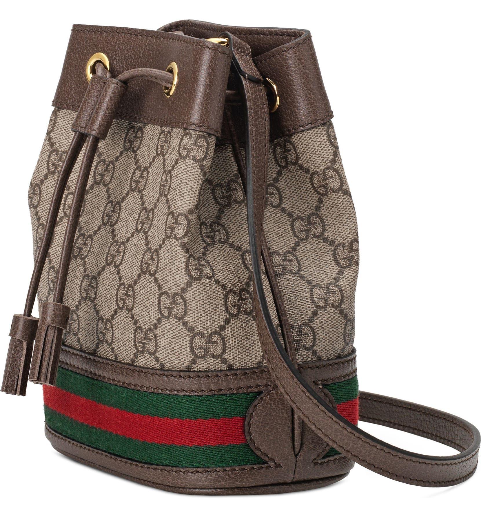 088dd2a7bc6 Gucci Mini Ophidia GG Supreme Bucket Bag