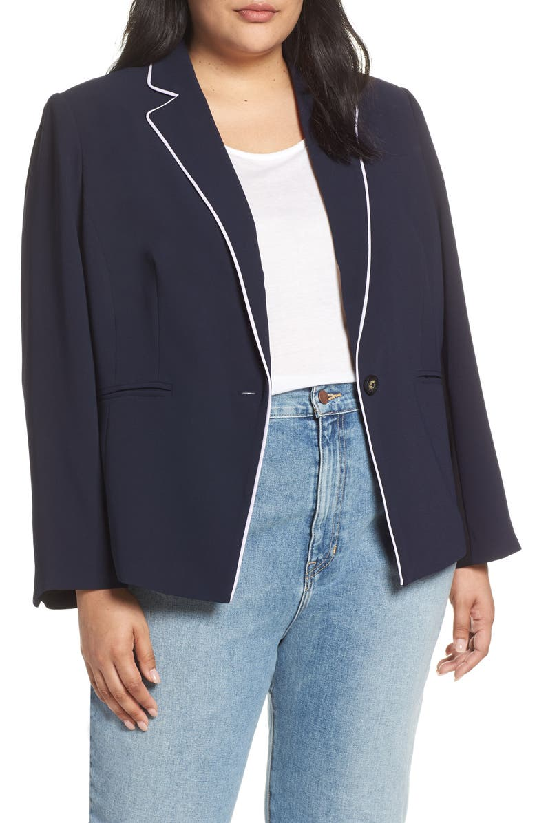 Rachel Rachel Roy  PIPED BLAZER