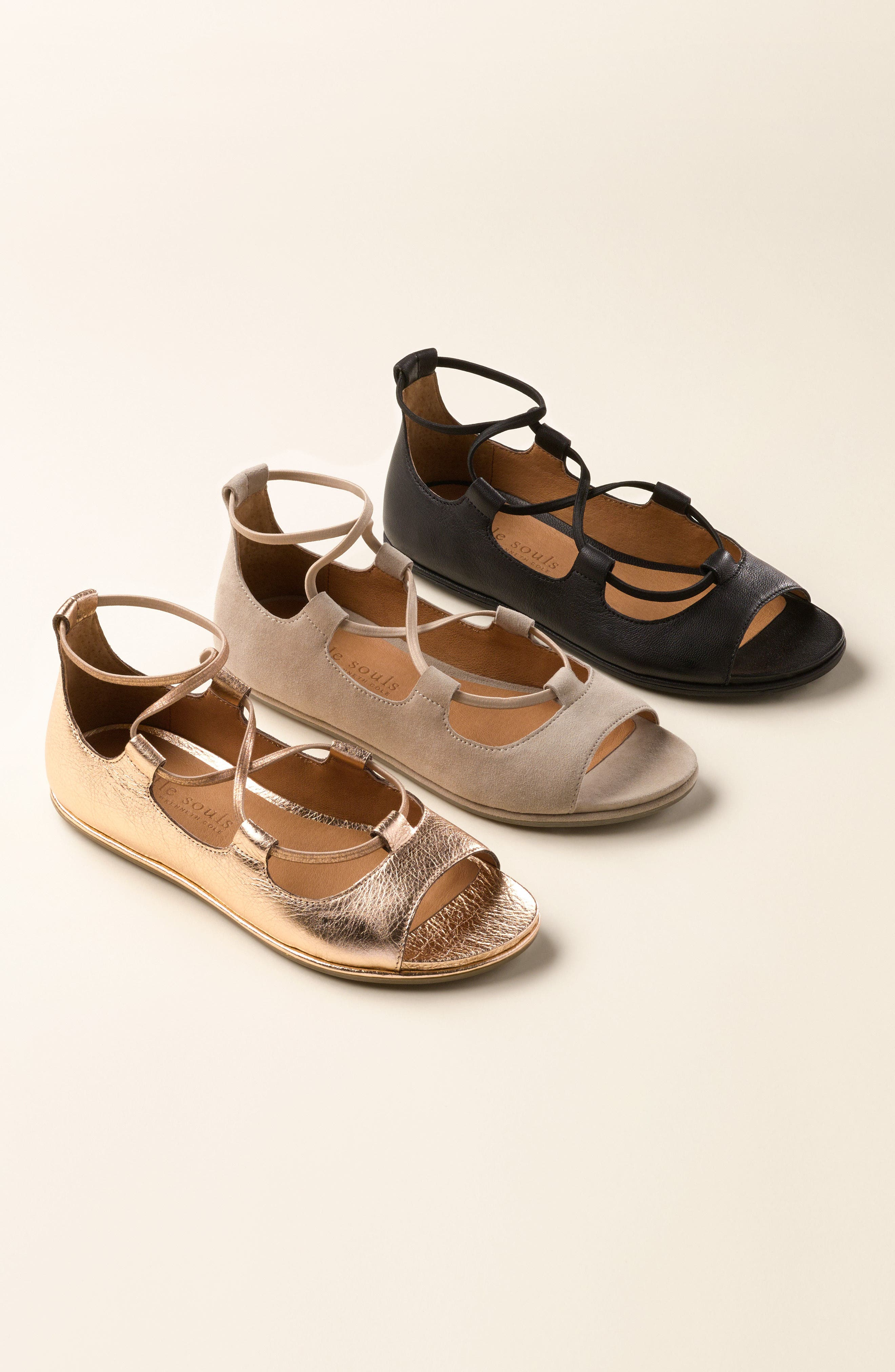 GENTLE SOULS BY KENNETH COLE, Lark Sandal, Alternate thumbnail 7, color, LIGHT PEWTER METALLIC LEATHER
