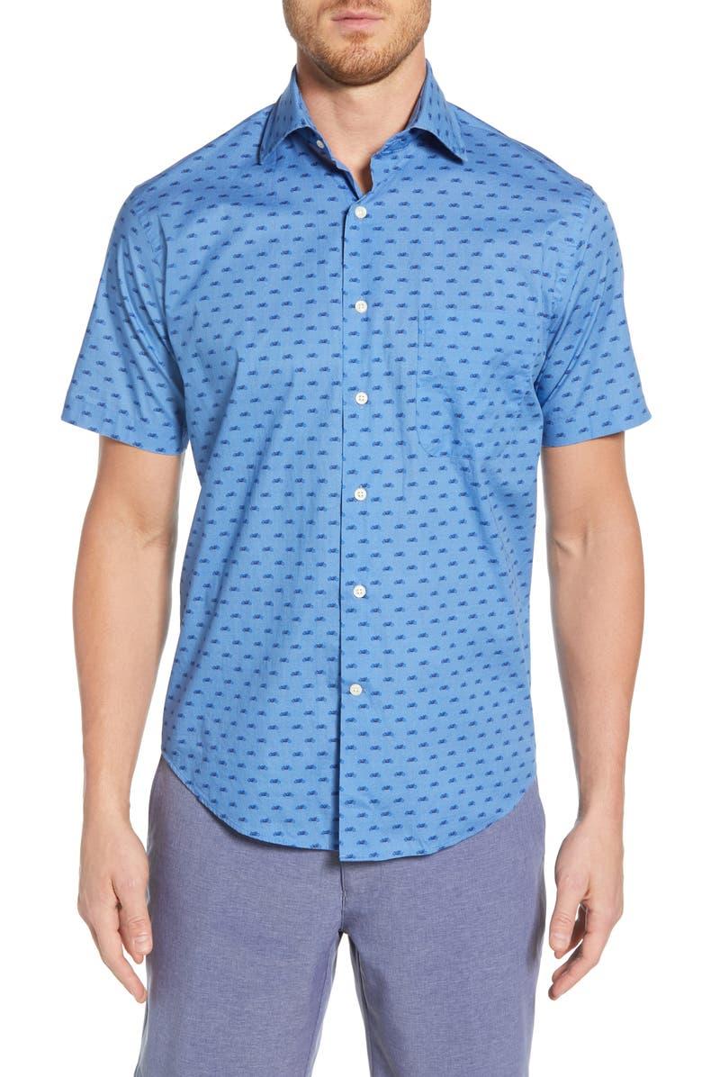Peter Millar T-shirts SEASIDE REGULAR FIT PRINT SPORT SHIRT