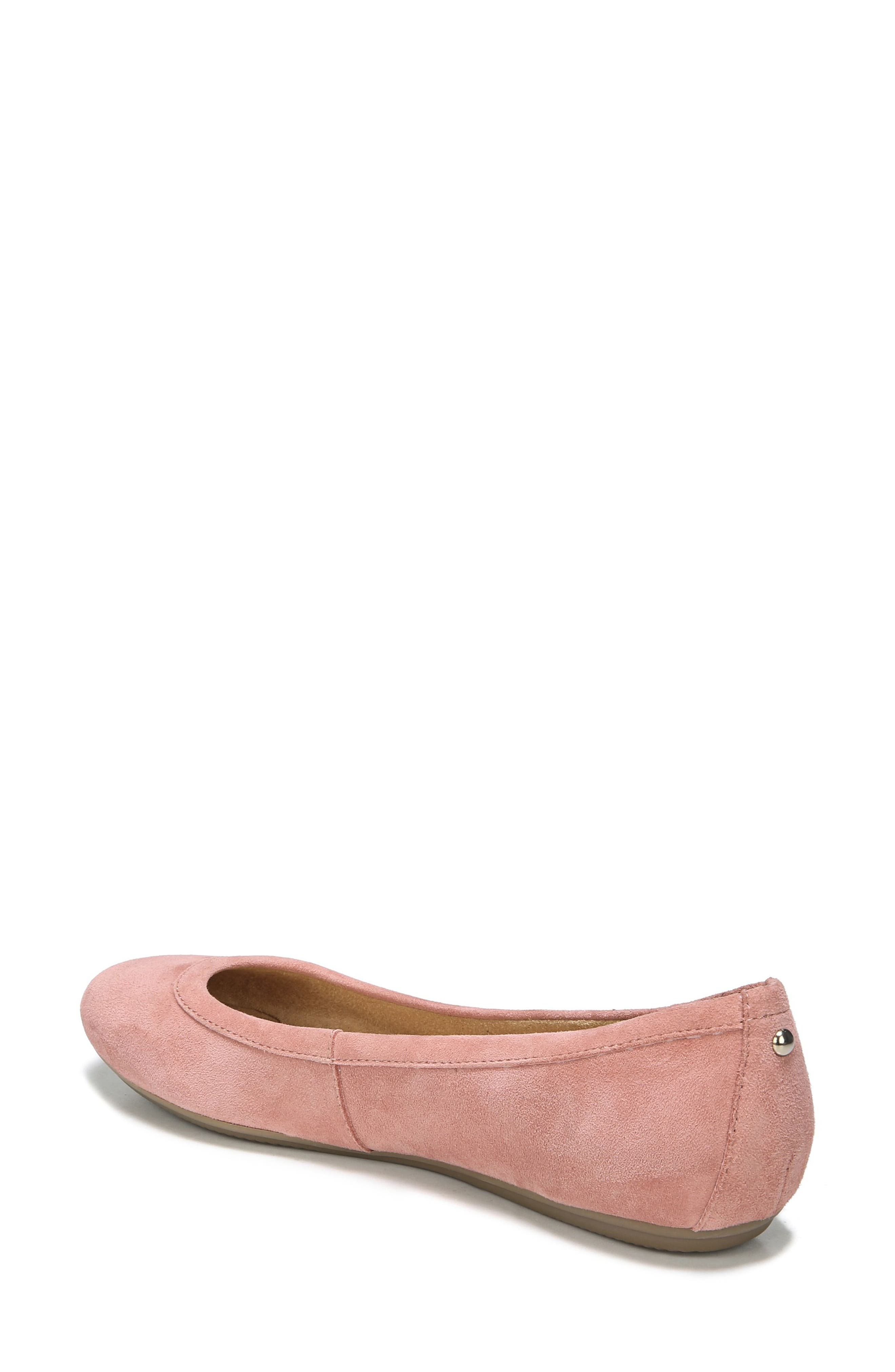 NATURALIZER, Brittany Ballet Flat, Alternate thumbnail 2, color, PEONY PINK SUEDE