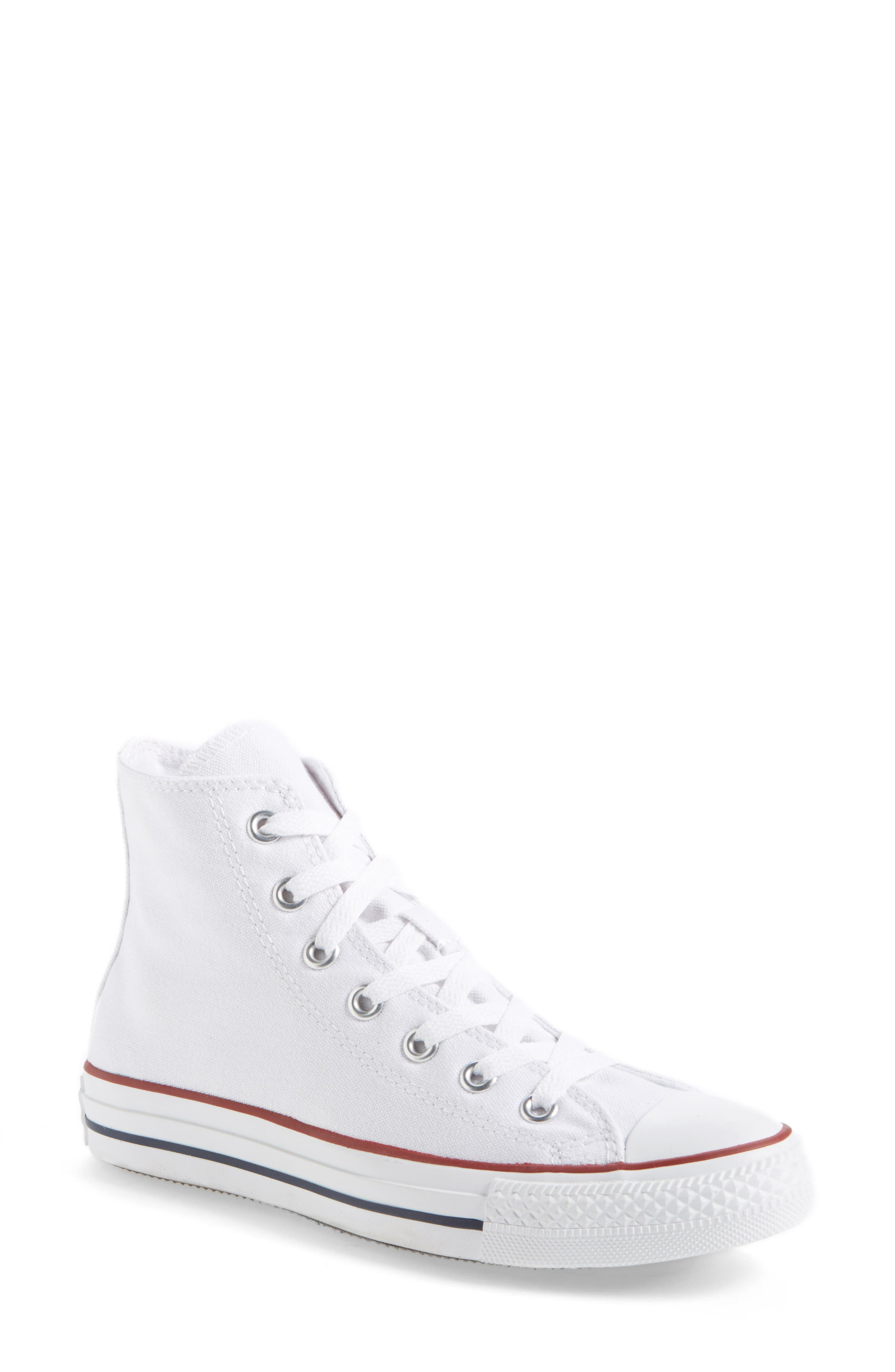 CONVERSE Chuck Taylor<sup>®</sup> High Top Sneaker, Main, color, OPTIC WHITE