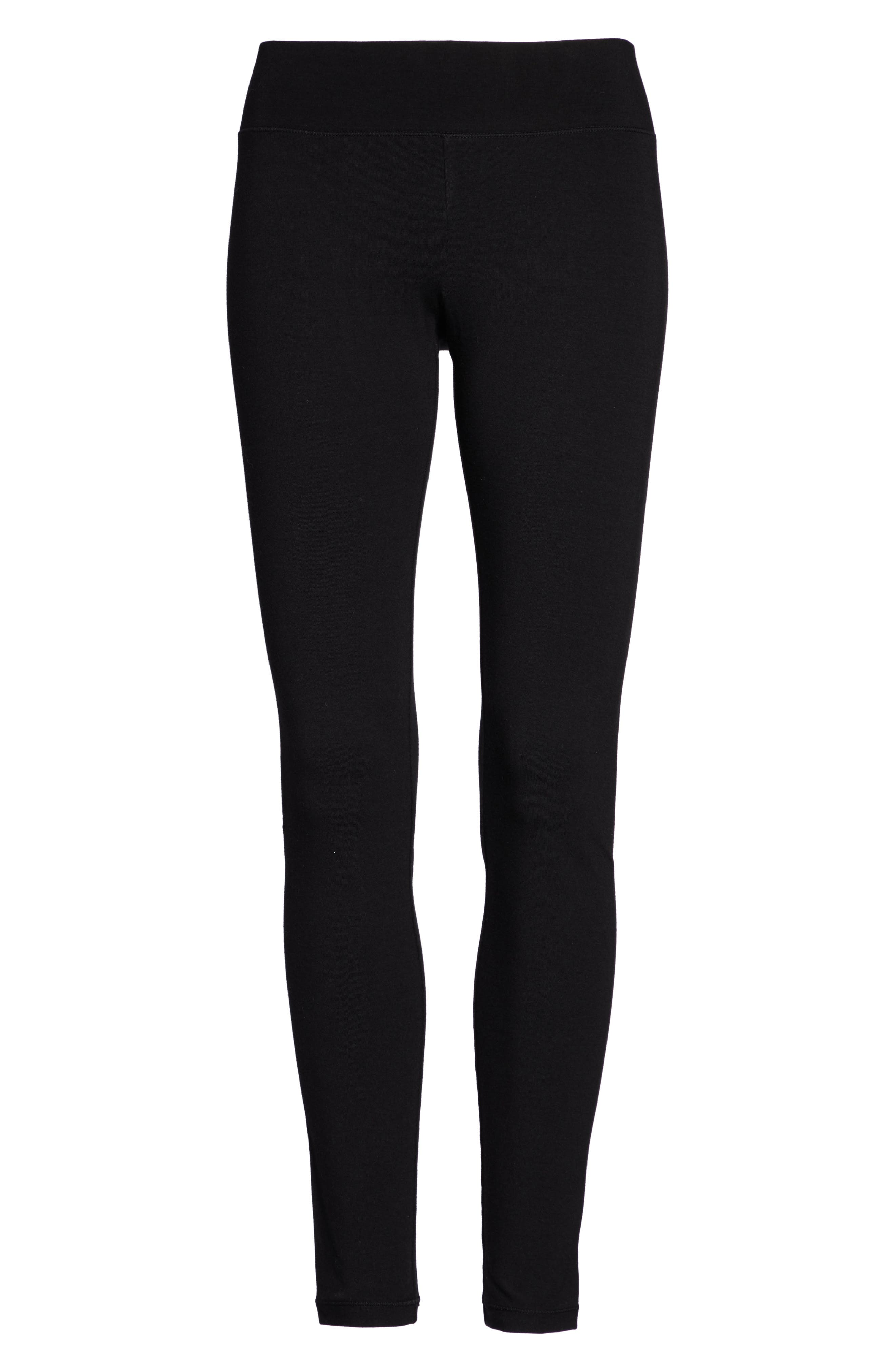 HUE, Ultra Wide Waistband Leggings, Alternate thumbnail 2, color, 001