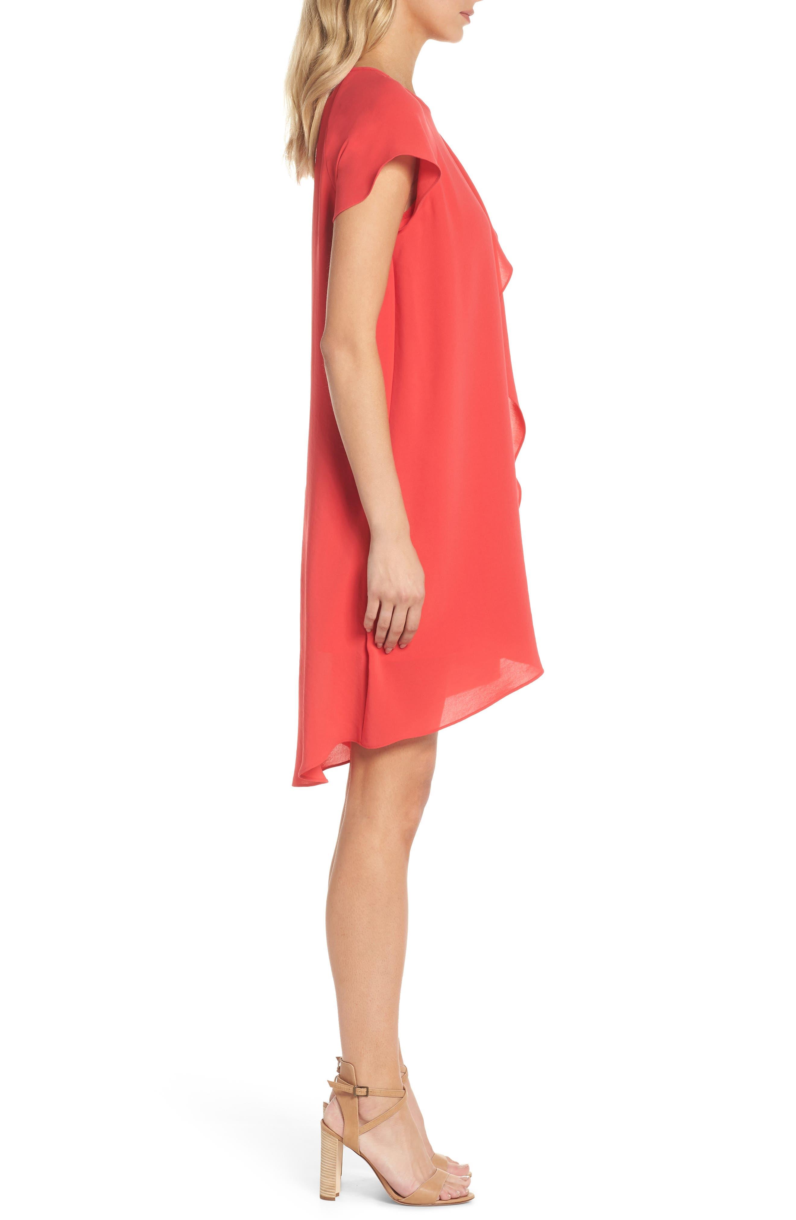 ADRIANNA PAPELL, Crepe Shift Dress, Alternate thumbnail 4, color, 650