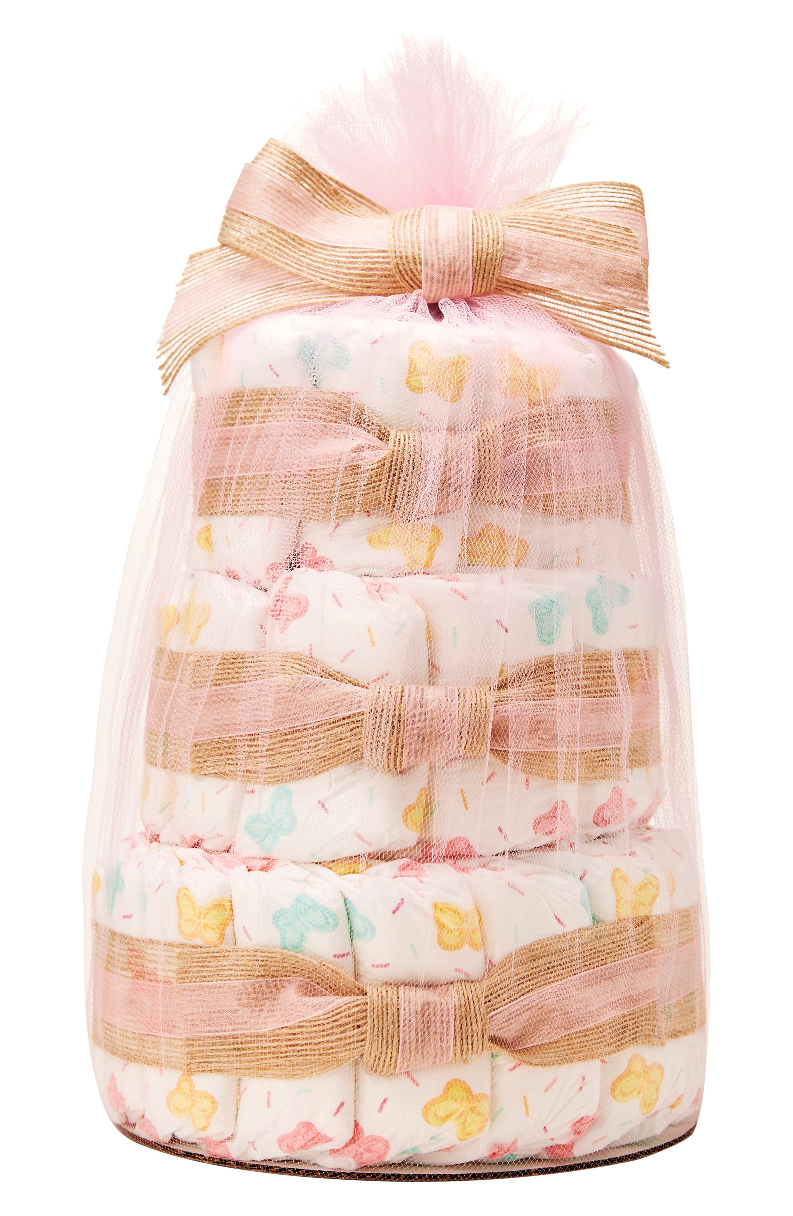 THE HONEST COMPANY, x Sugarfina Sweet Thing Mini Diaper Cake, Main thumbnail 1, color, 104