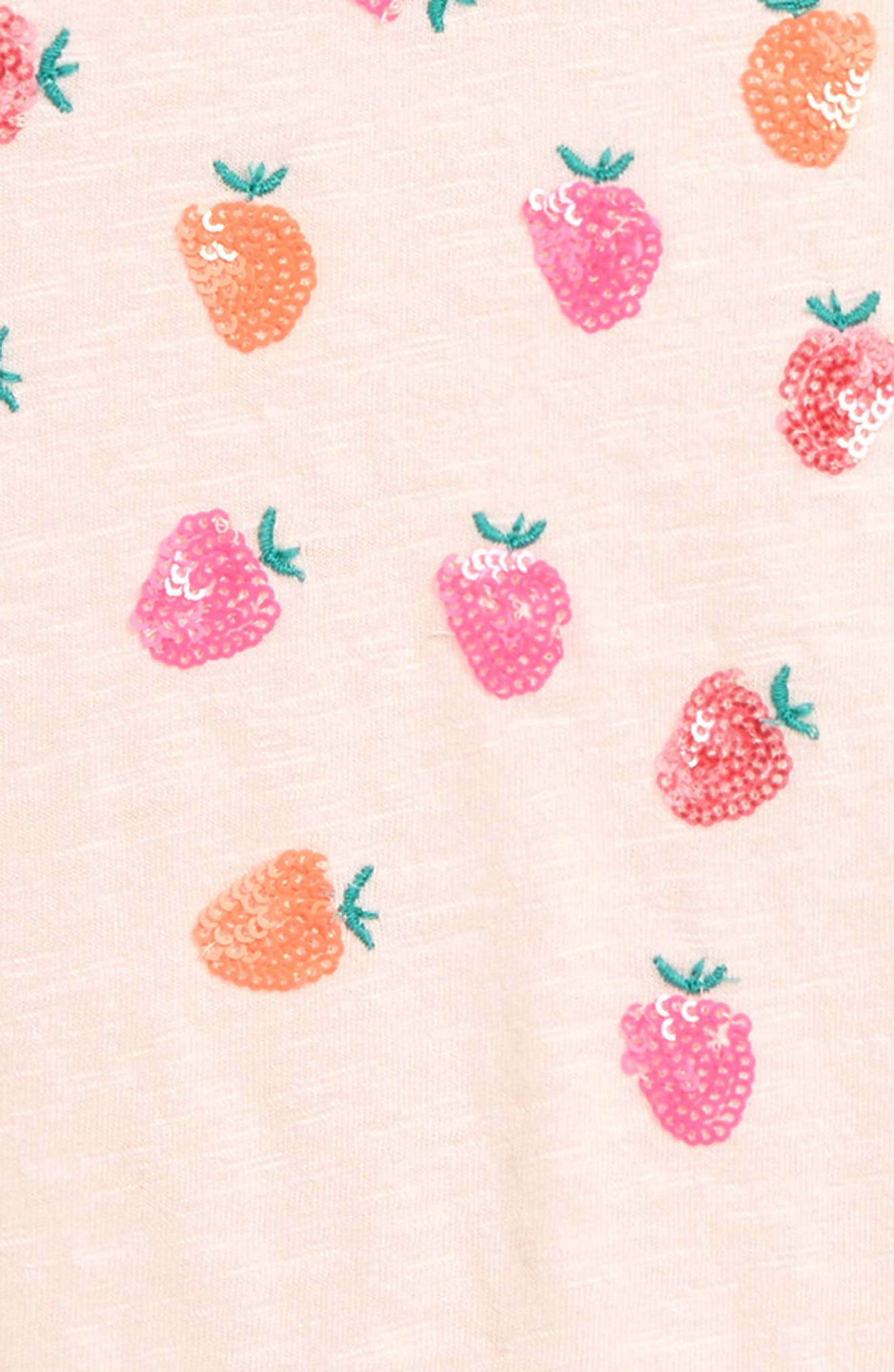 MINI BODEN, Boden Scattered Sequin Star Tee, Alternate thumbnail 2, color, PNK PARISIAN PINK STRAWBERRIES