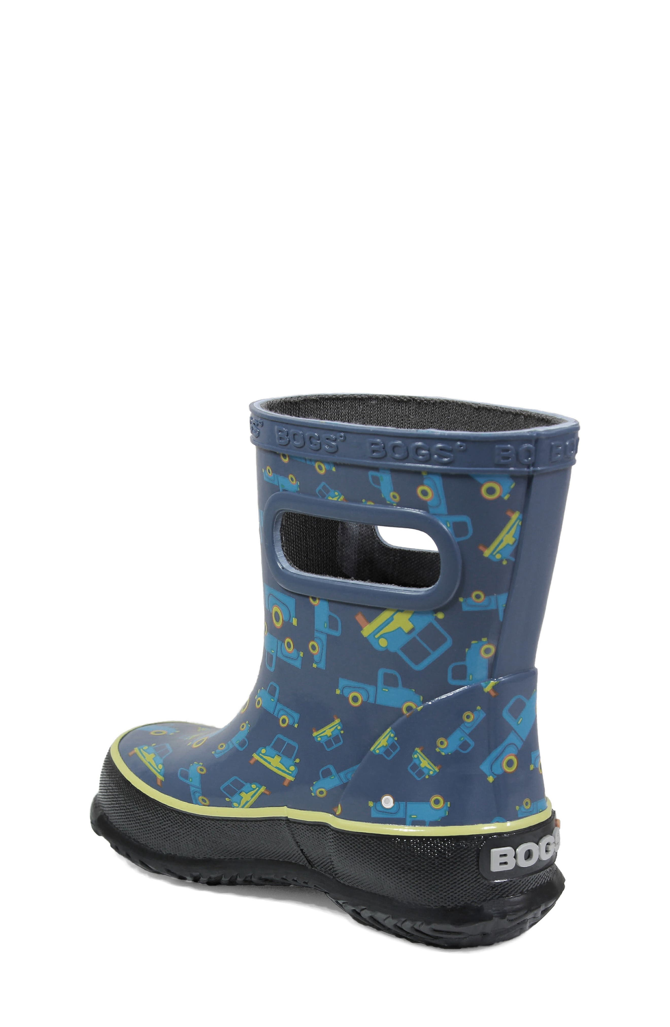BOGS, Skipper Truck Print Rubber Rain Boot, Alternate thumbnail 2, color, 460