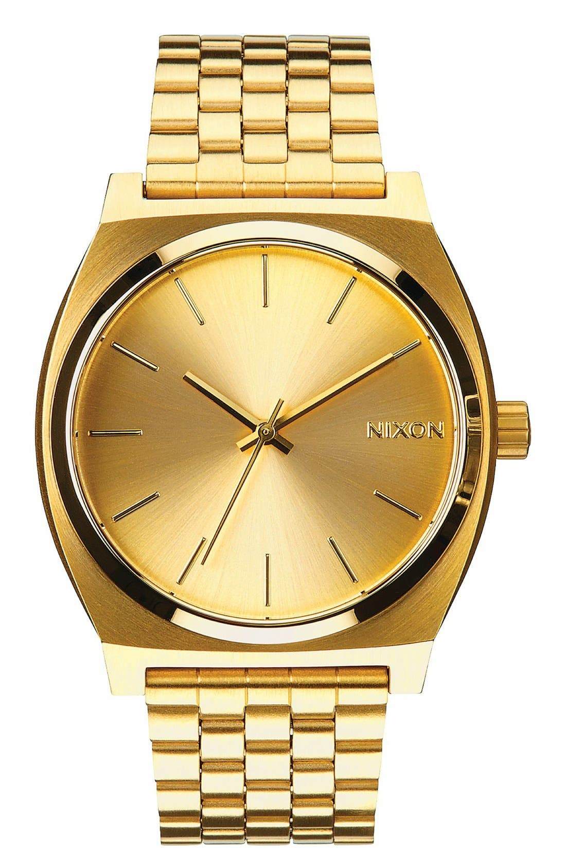 NIXON, 'The Time Teller' Watch, 37mm, Main thumbnail 1, color, GOLD
