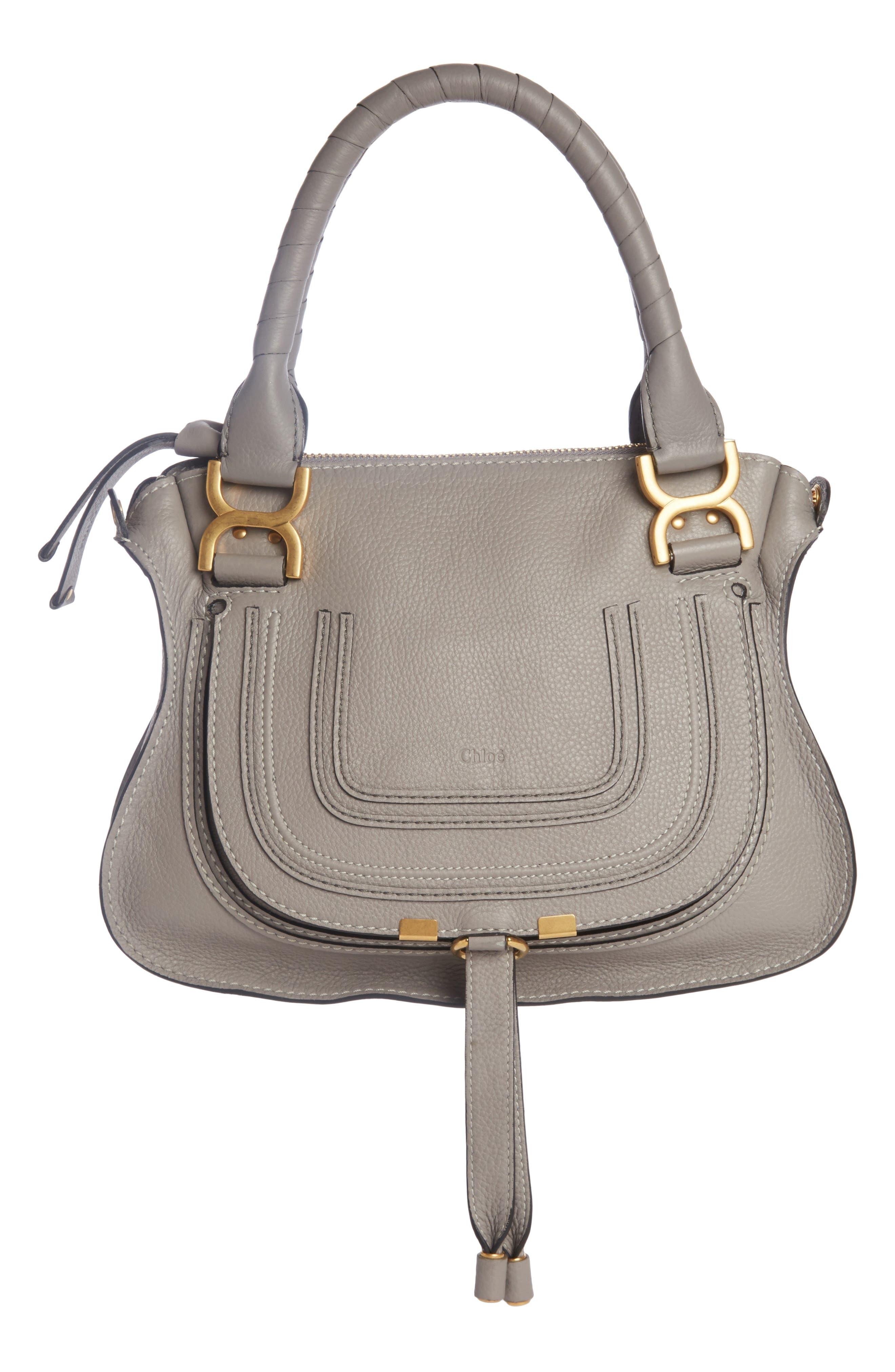 CHLOÉ, Marcie Small Double Carry Bag, Main thumbnail 1, color, CASHMERE GREY