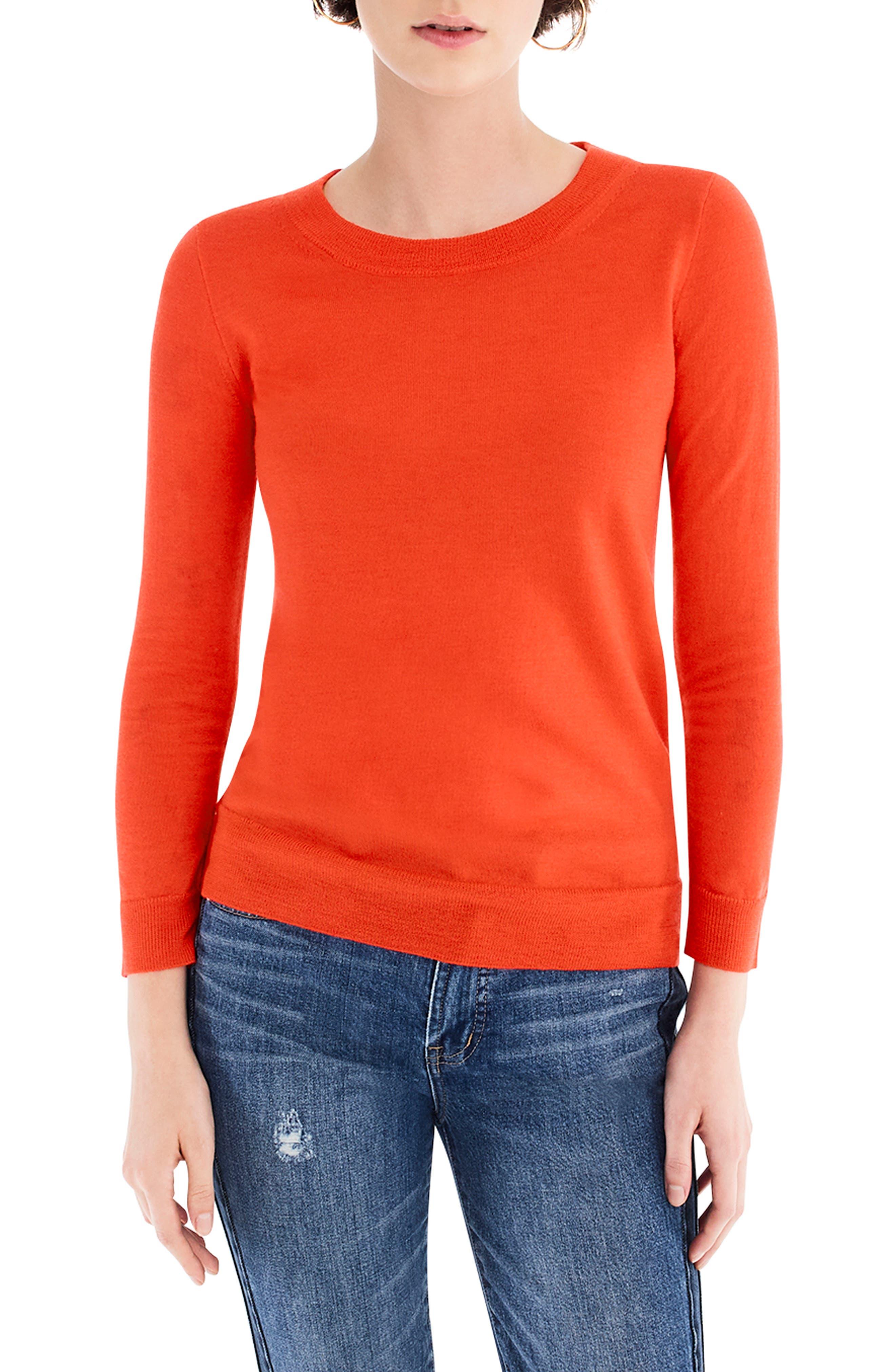 Plus Size J.crew Tippi Merino Wool Sweater, Size - Orange