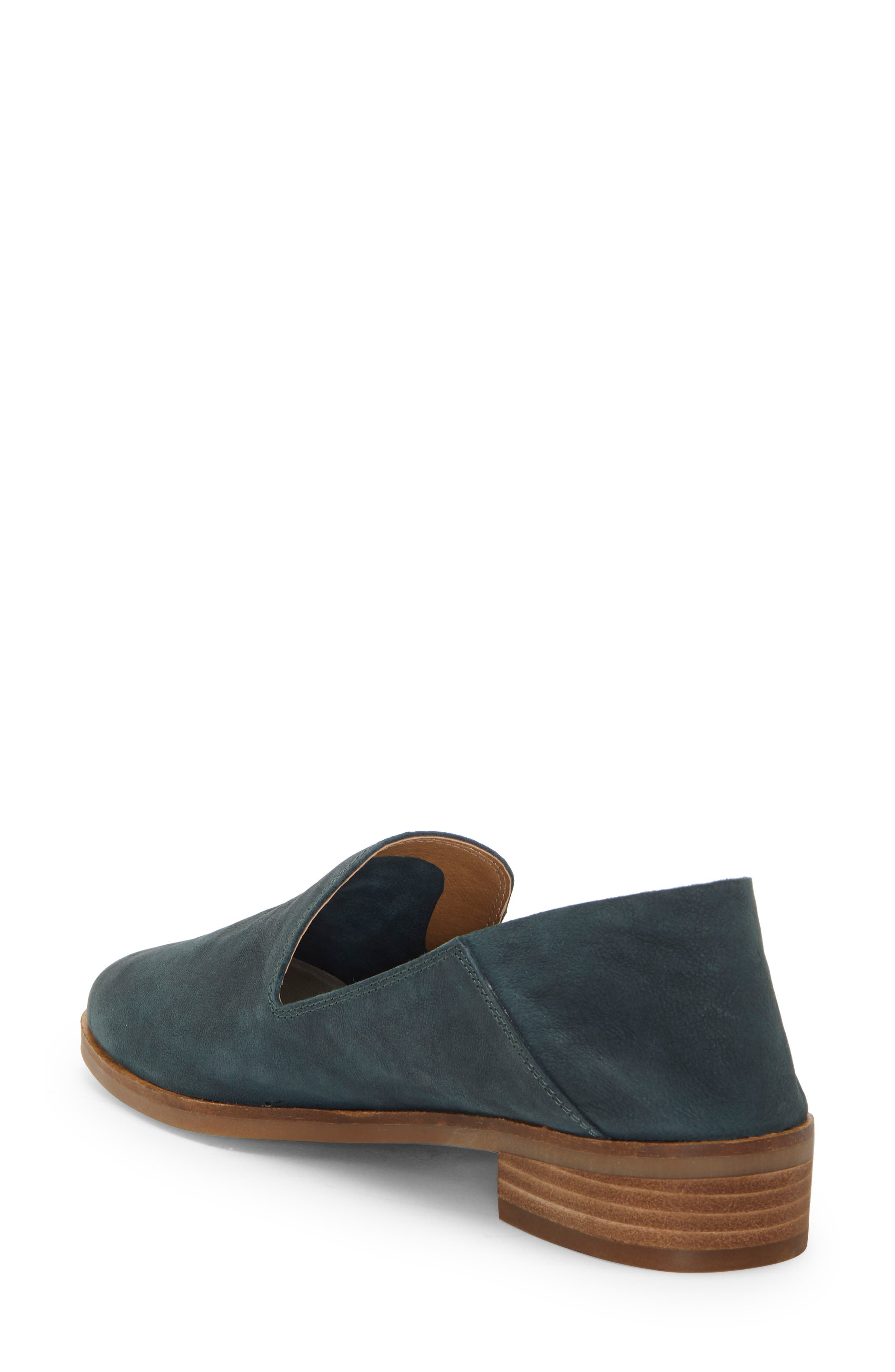 LUCKY BRAND, Cahill Flat, Alternate thumbnail 3, color, KELP LEATHER