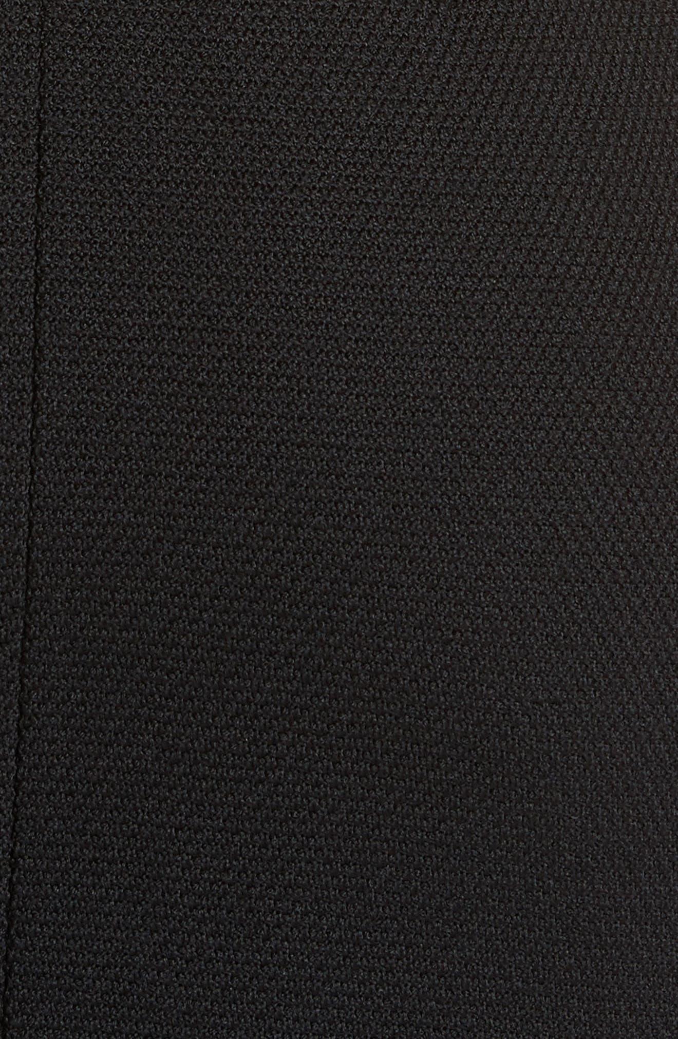 ST. JOHN COLLECTION, Micro Bouclé Knit Dress, Alternate thumbnail 5, color, CAVIAR