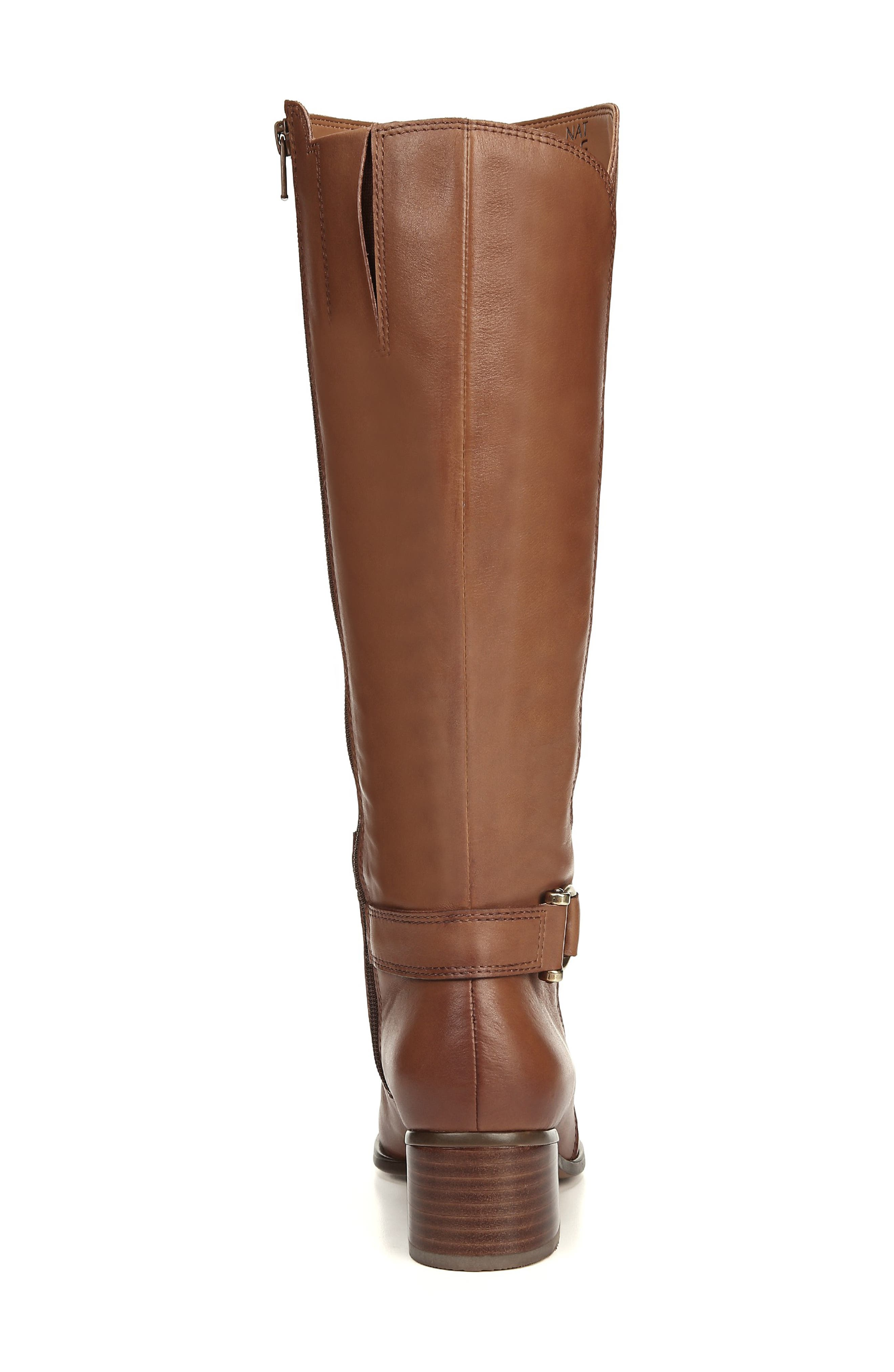 NATURALIZER, Dane Knee High Riding Boot, Alternate thumbnail 8, color, MAPLE LEATHER