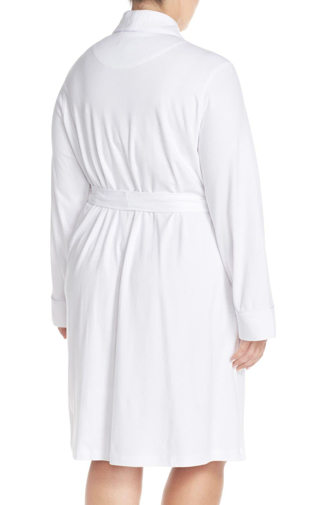 LAUREN RALPH LAUREN, Shawl Collar Robe, Alternate thumbnail 3, color, WHITE