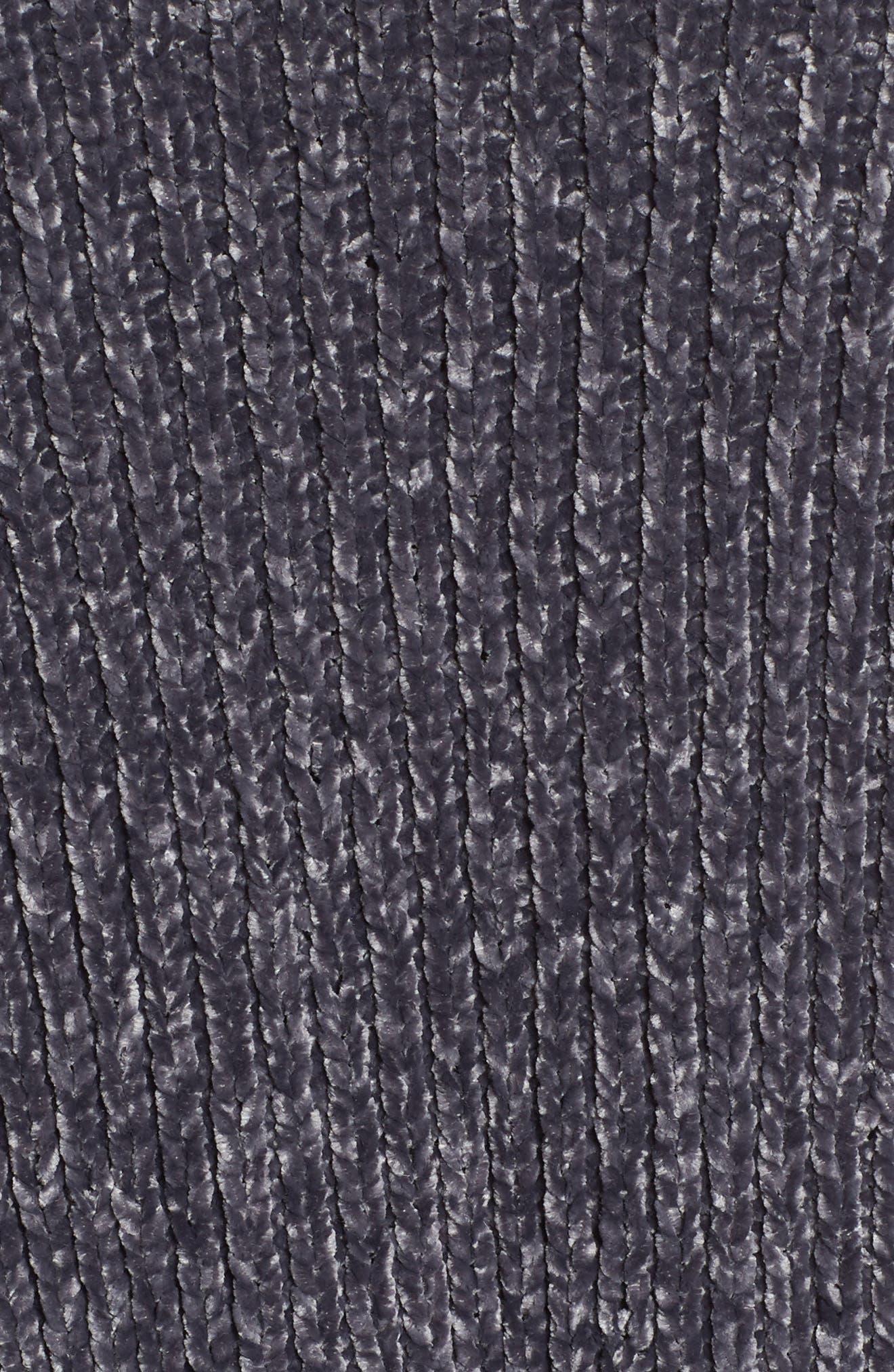 CASLON<SUP>®</SUP>, Long Sleeve Chenille Cardigan, Alternate thumbnail 5, color, 030