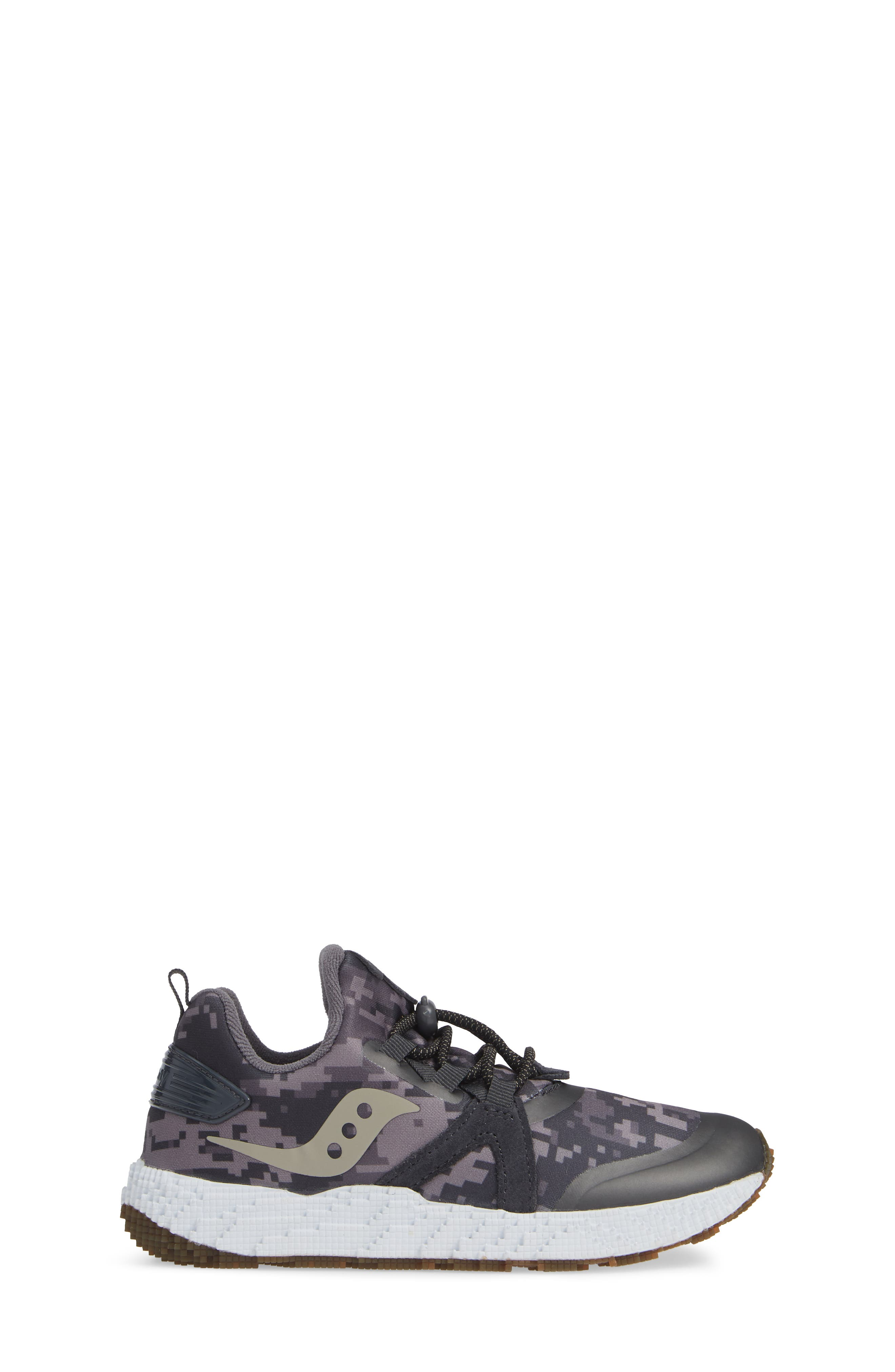 SAUCONY, Voxel 9000 Sneaker, Alternate thumbnail 3, color, GREY LEATHER/ MESH