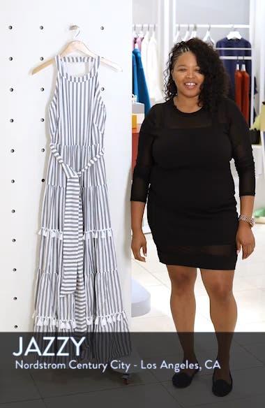 Tiered Tassel Fringe Cotton Maxi Dress, sales video thumbnail