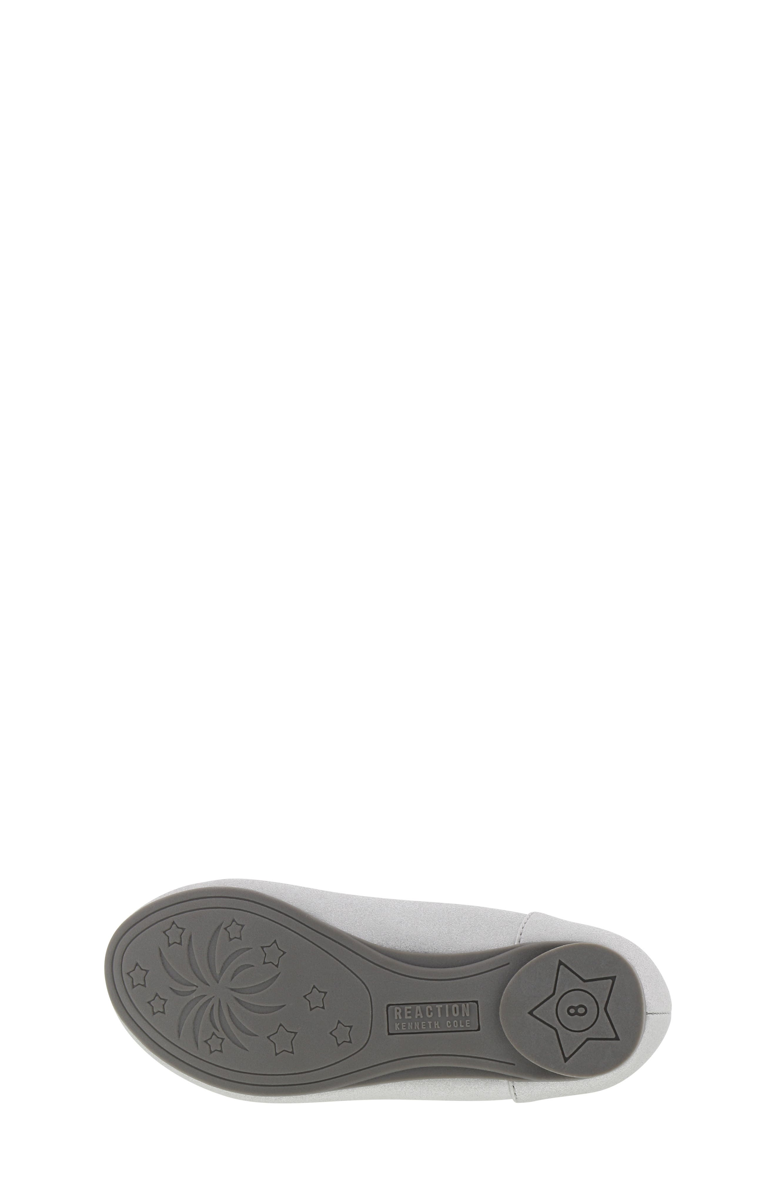 REACTION KENNETH COLE, Tap Lily-T Embellished Flat, Alternate thumbnail 6, color, SILVER