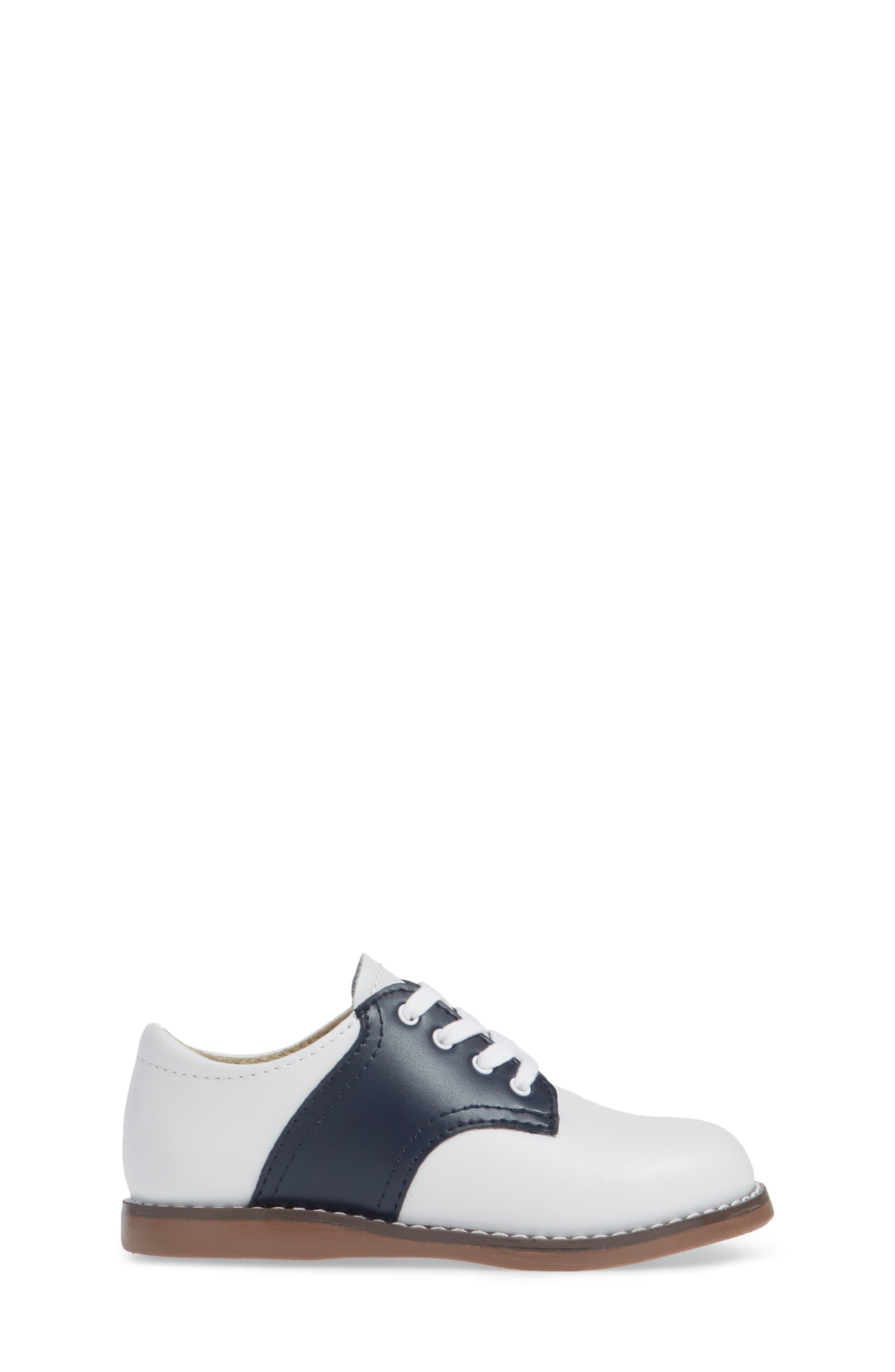 FOOTMATES, Cheer Oxford, Alternate thumbnail 3, color, WHITE/ NAVY
