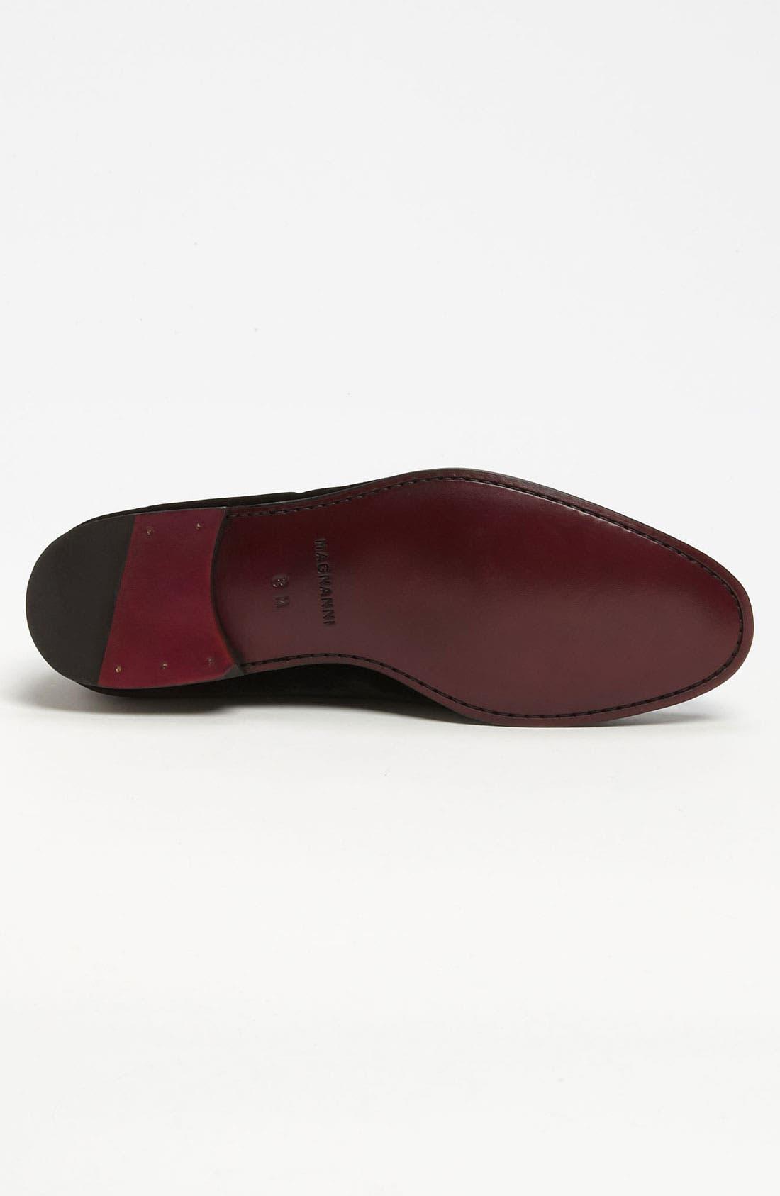 MAGNANNI, 'Dorio' Velvet Venetian Loafer, Alternate thumbnail 5, color, BLACK