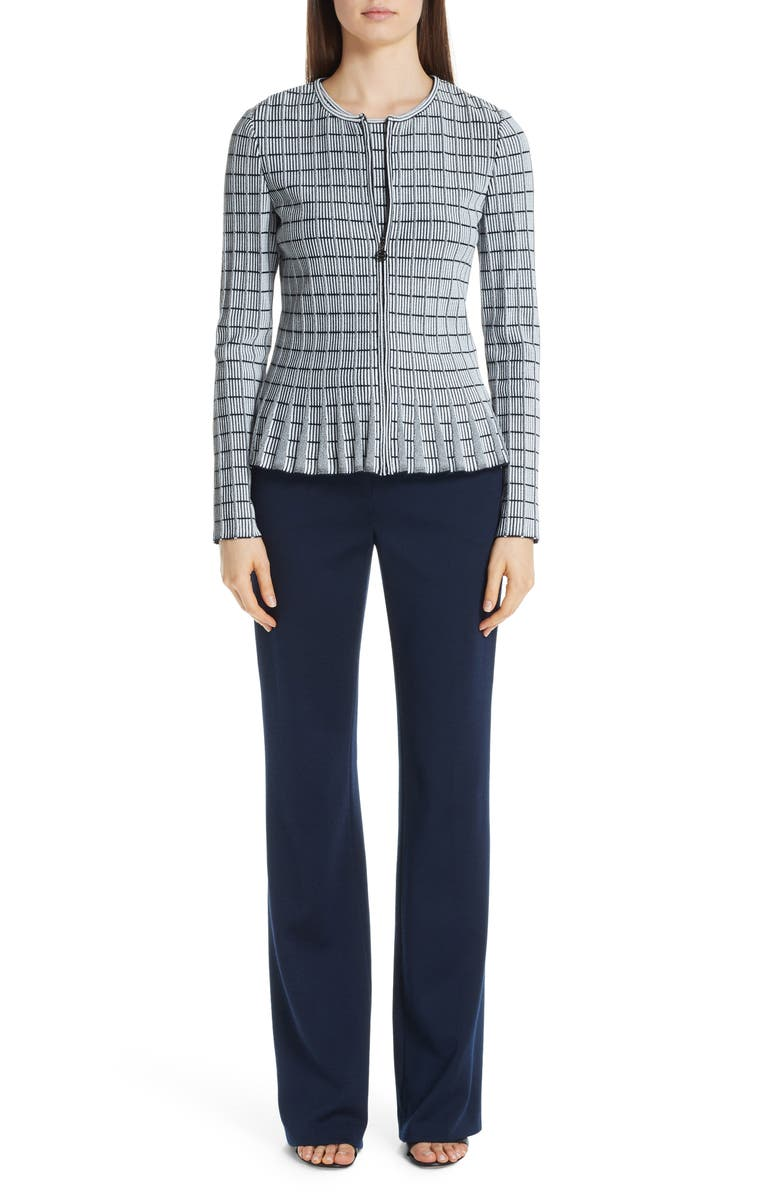 05e234bbc89 St. John Collection Creased Milano Knit Pants